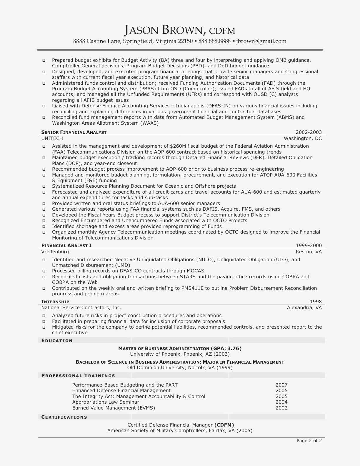 Project Management Resume - Project Management Sample Resumes