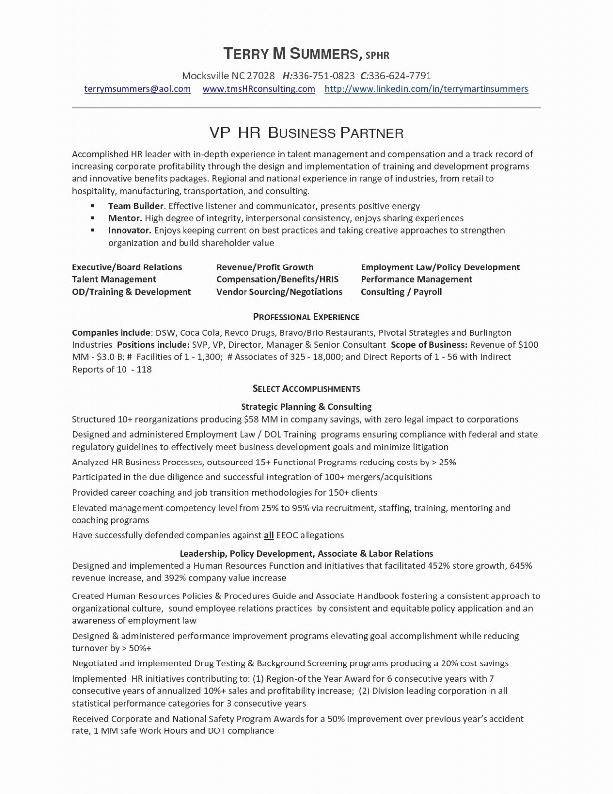 Project Management Resume Samples