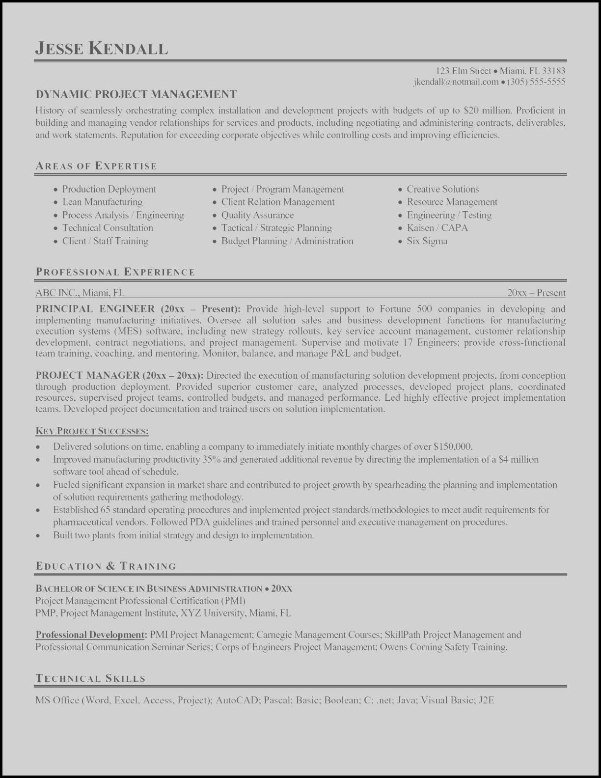 Project Management Resumes - 17 Management Resume Templates
