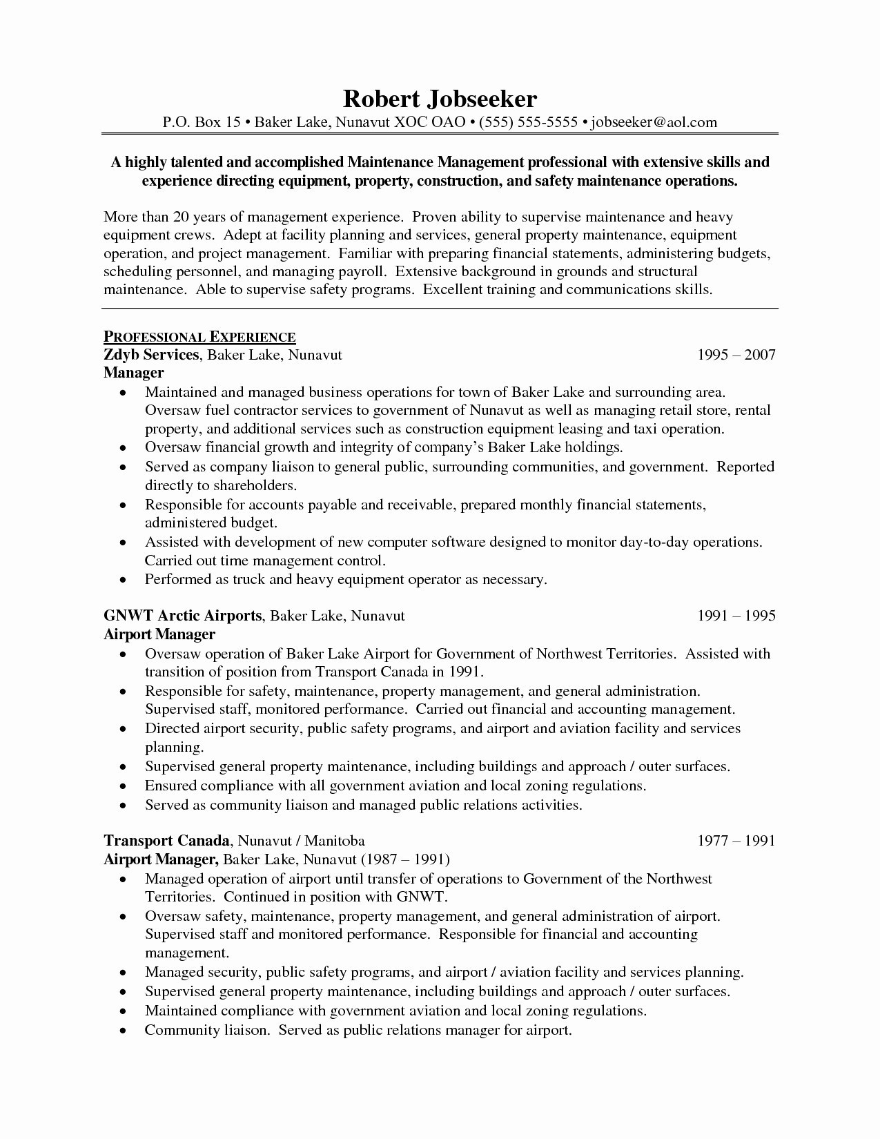 Project Management Resumes - New Project Manager Resume Samples