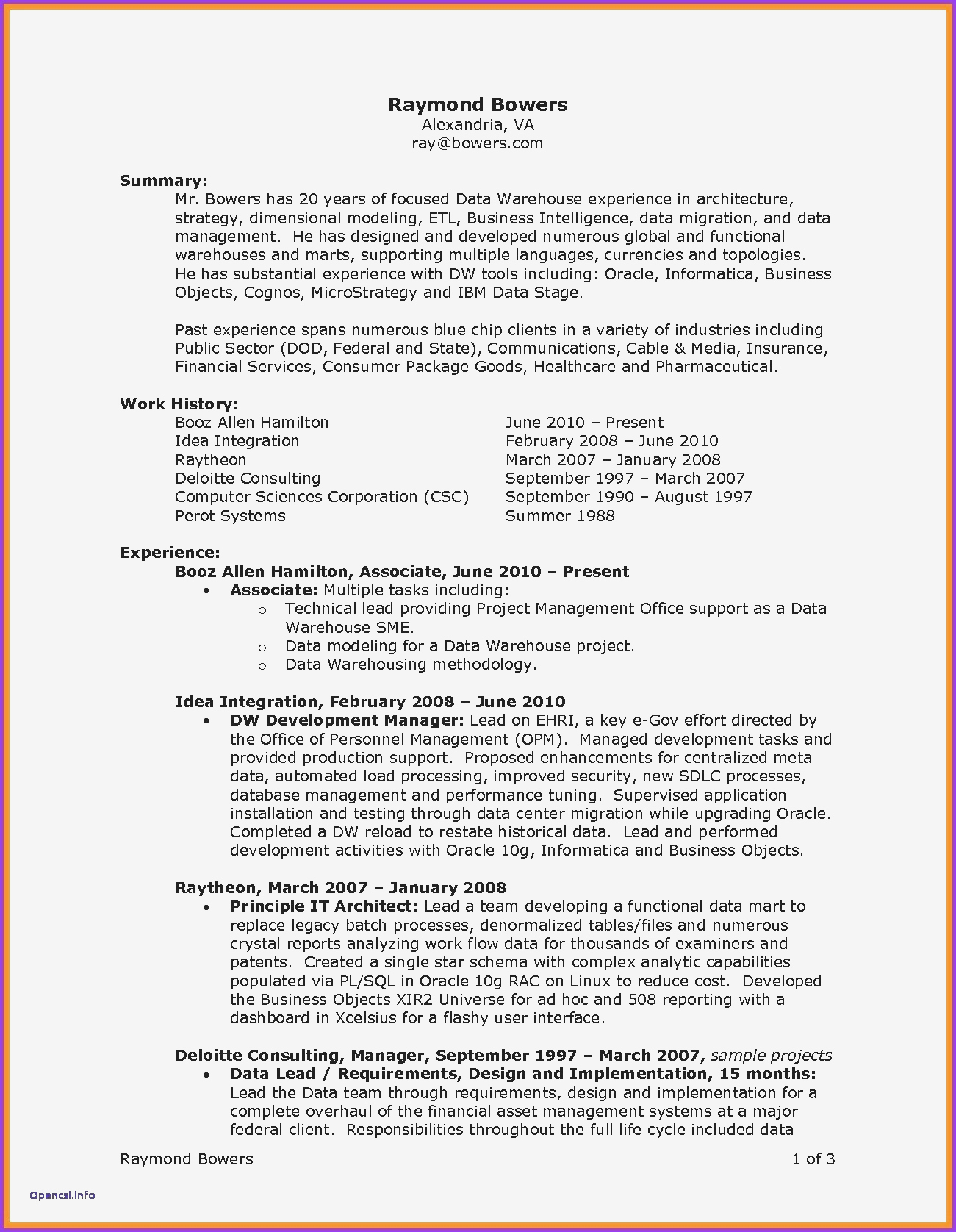 Project Manager Resume Examples - Project Management Sample Resumes