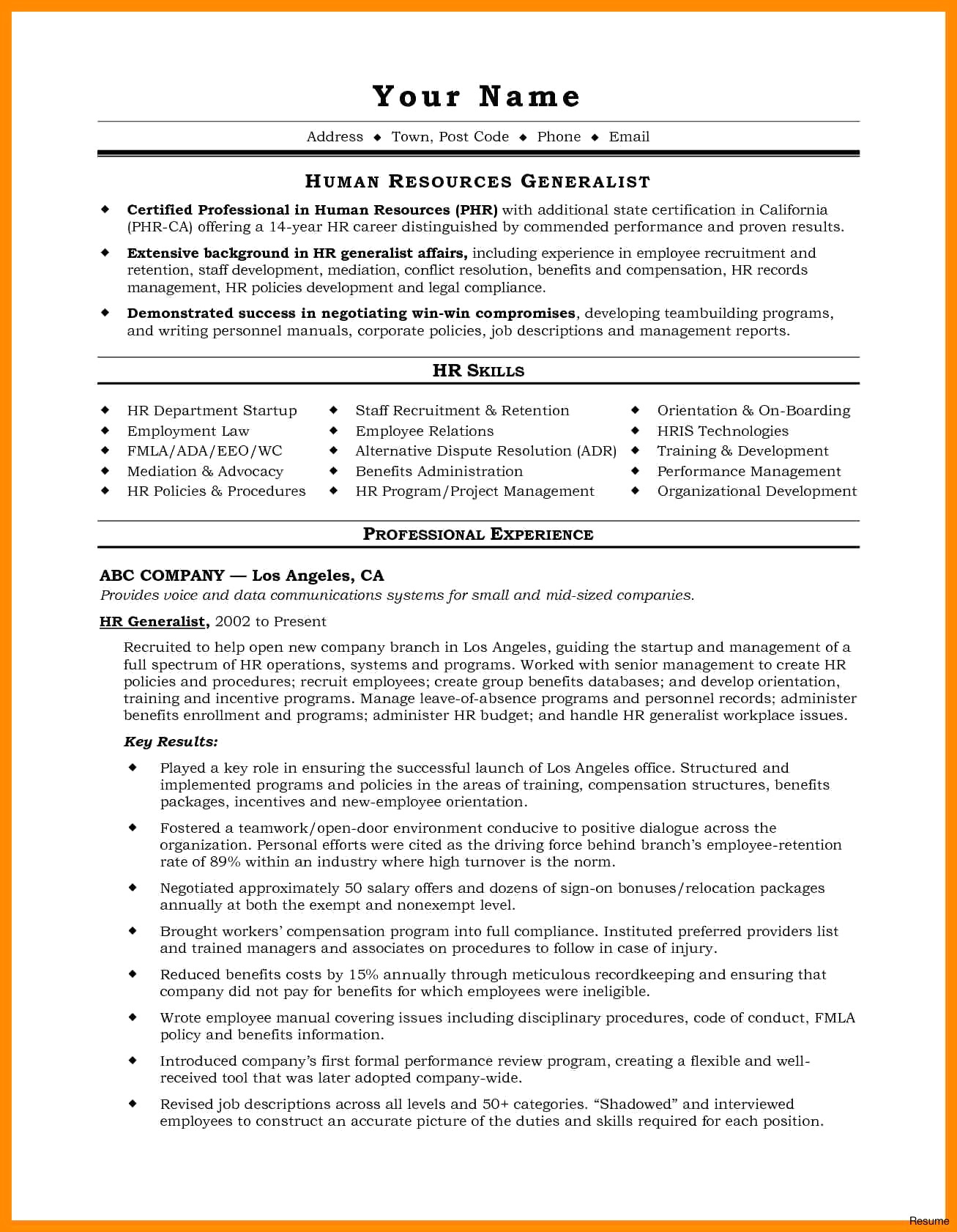 Property Management Resume Template - 45 New Fice Resume Templates