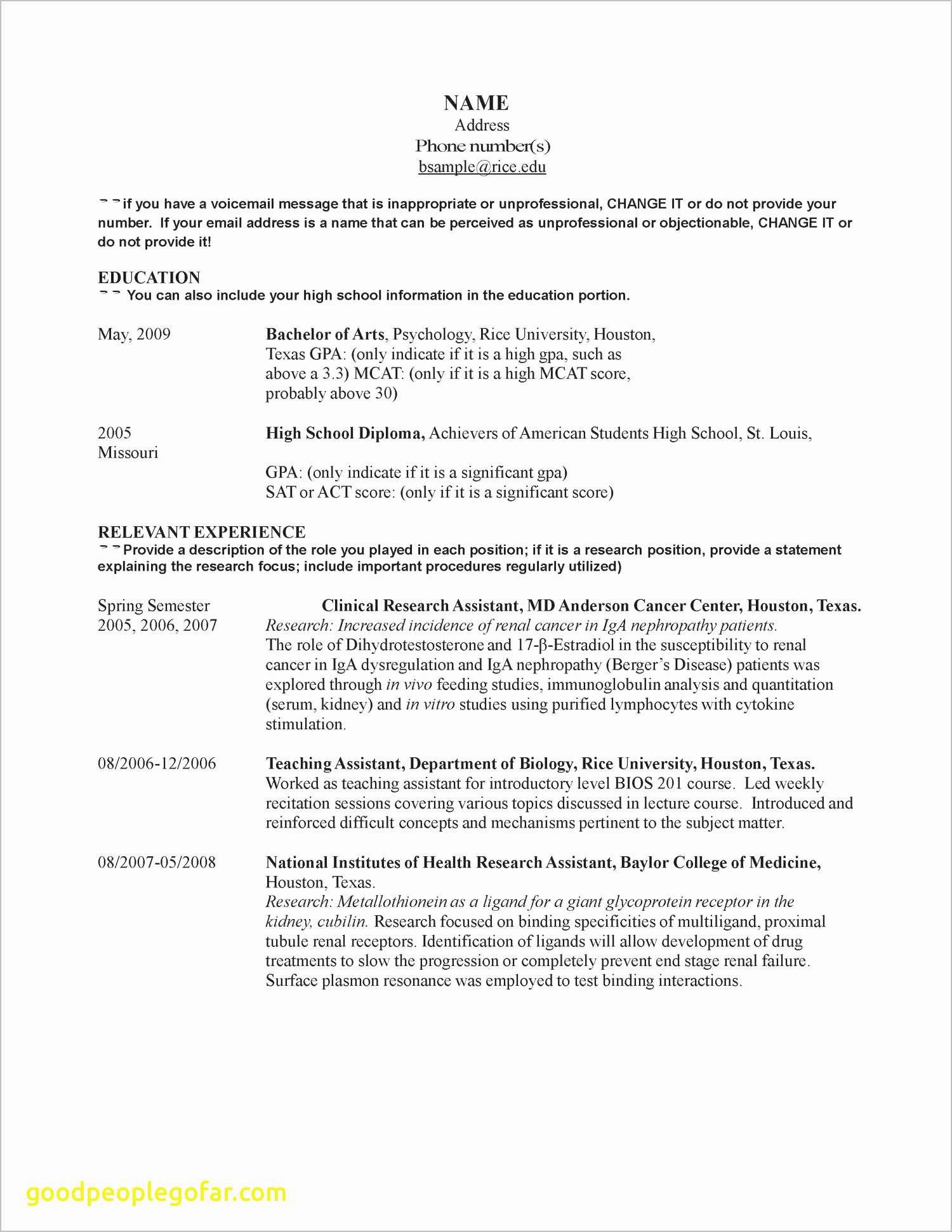 Psychology Resumes - 21 Awesome How Do You Do A Resume