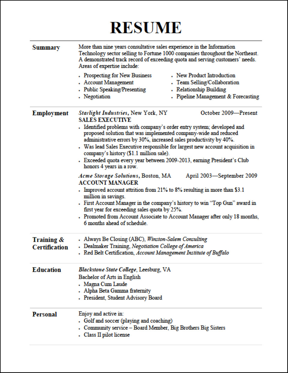 Public Speaking Resume - 52 New Resume Examples for College Students
