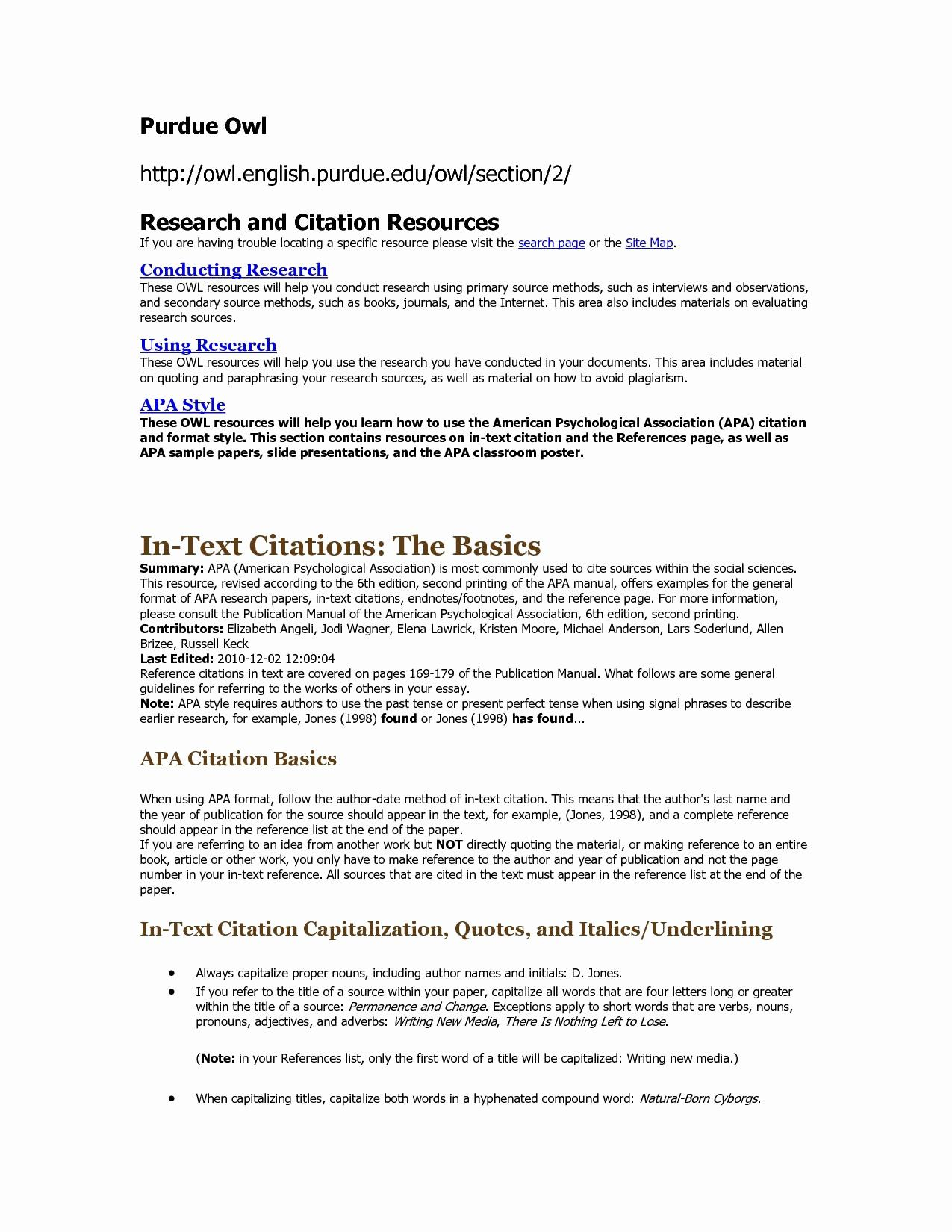 Purdue Owl Resume Template - Purdue Owl Cover Letter New Cover Letter or Resume First Resume