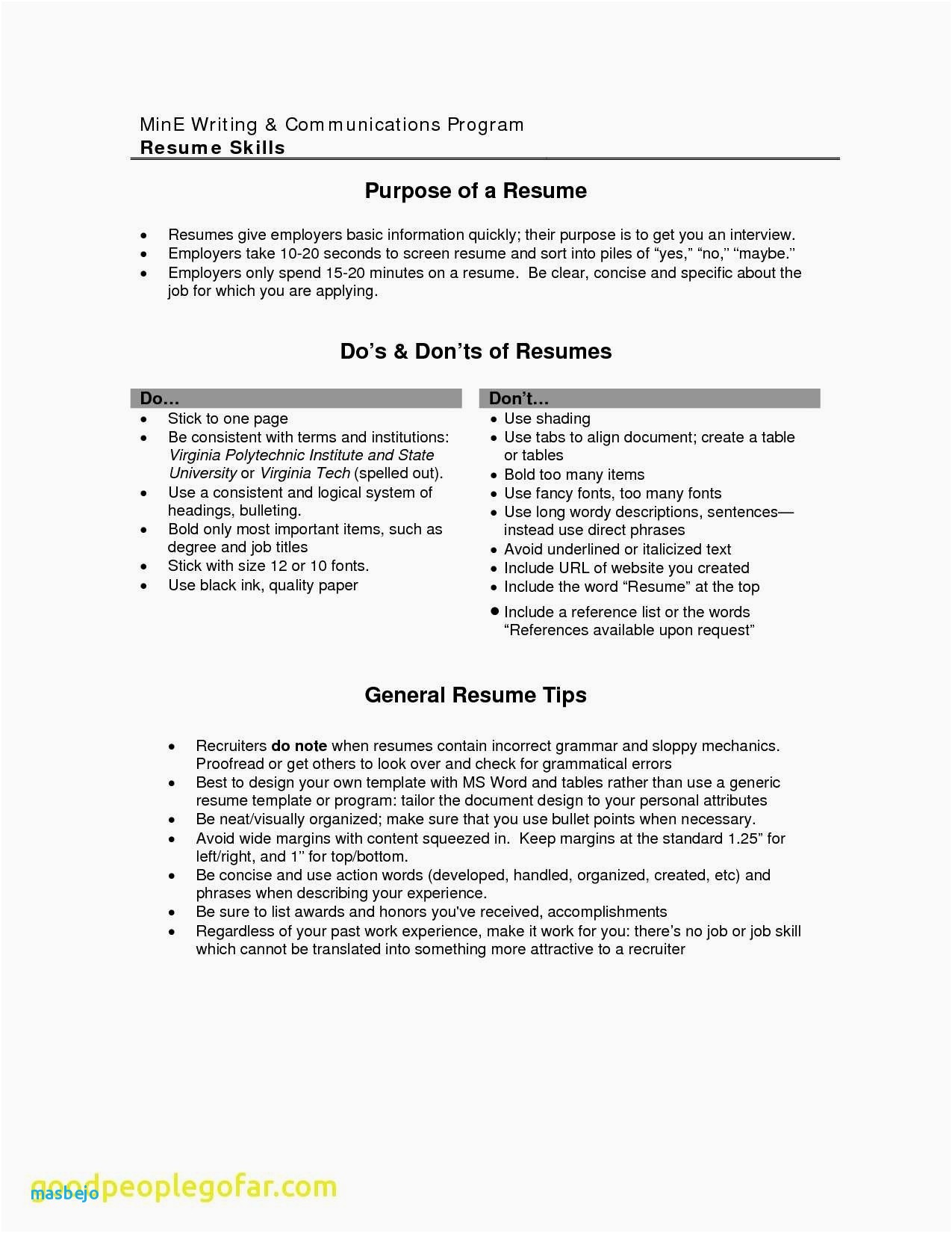 Purpose Of A Resume - 30 Elegant Purpose A Resume