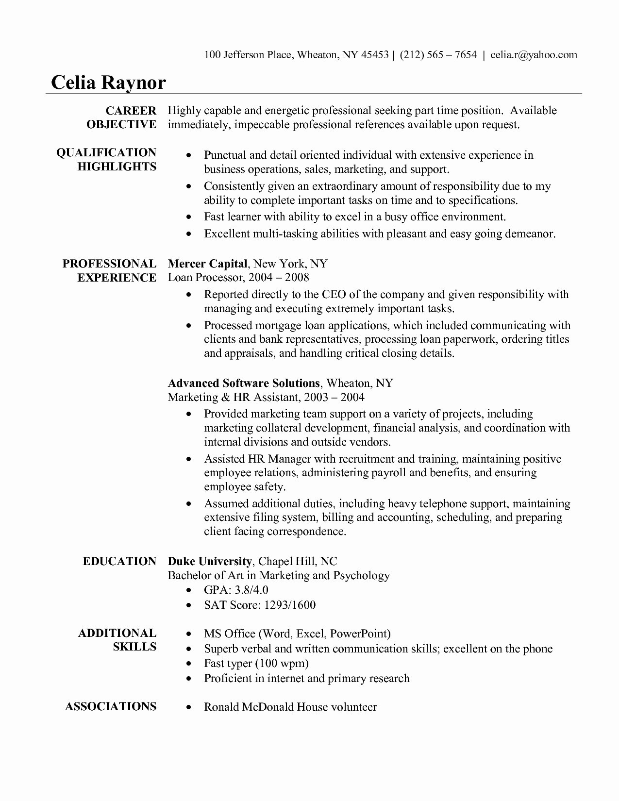 Quick Learner Resume Example - Quick Learner Resume Unique How Write A Resume for A Job Good