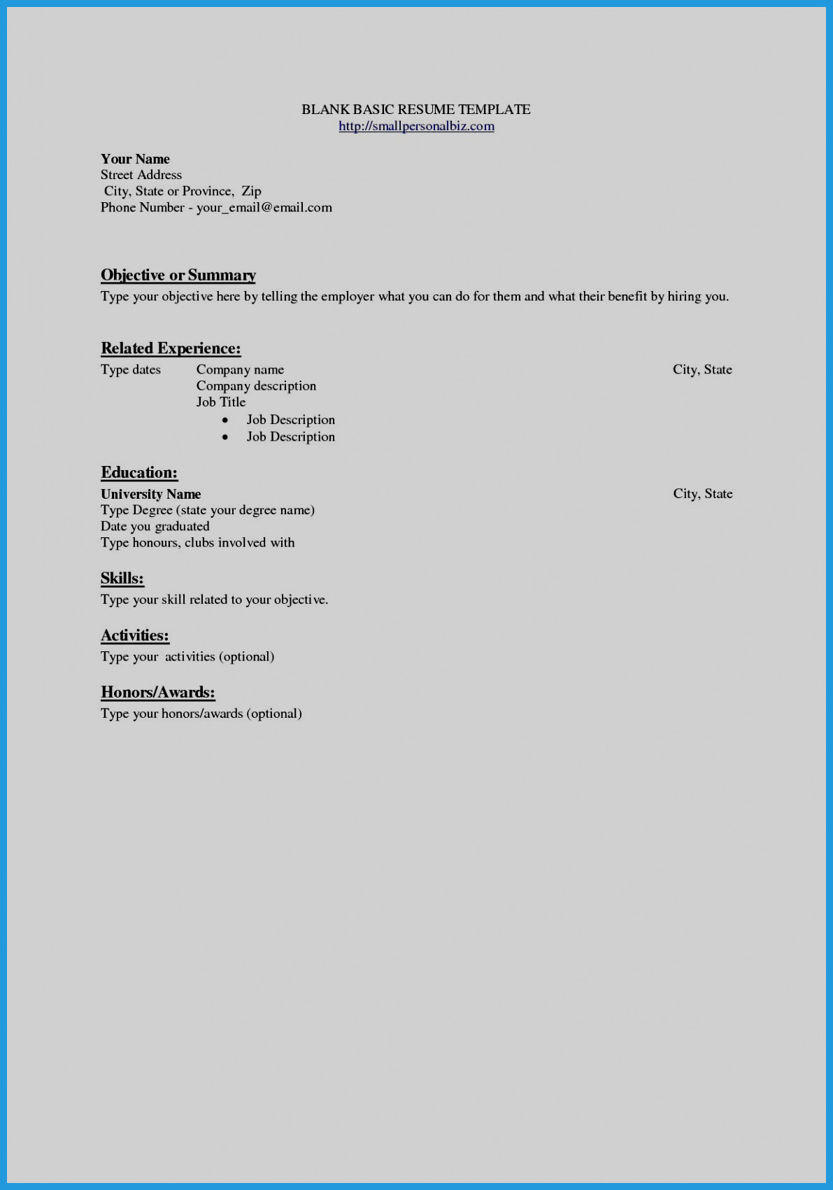Quick Resume Template - Building A Awesome Resume Examples Objective Doc