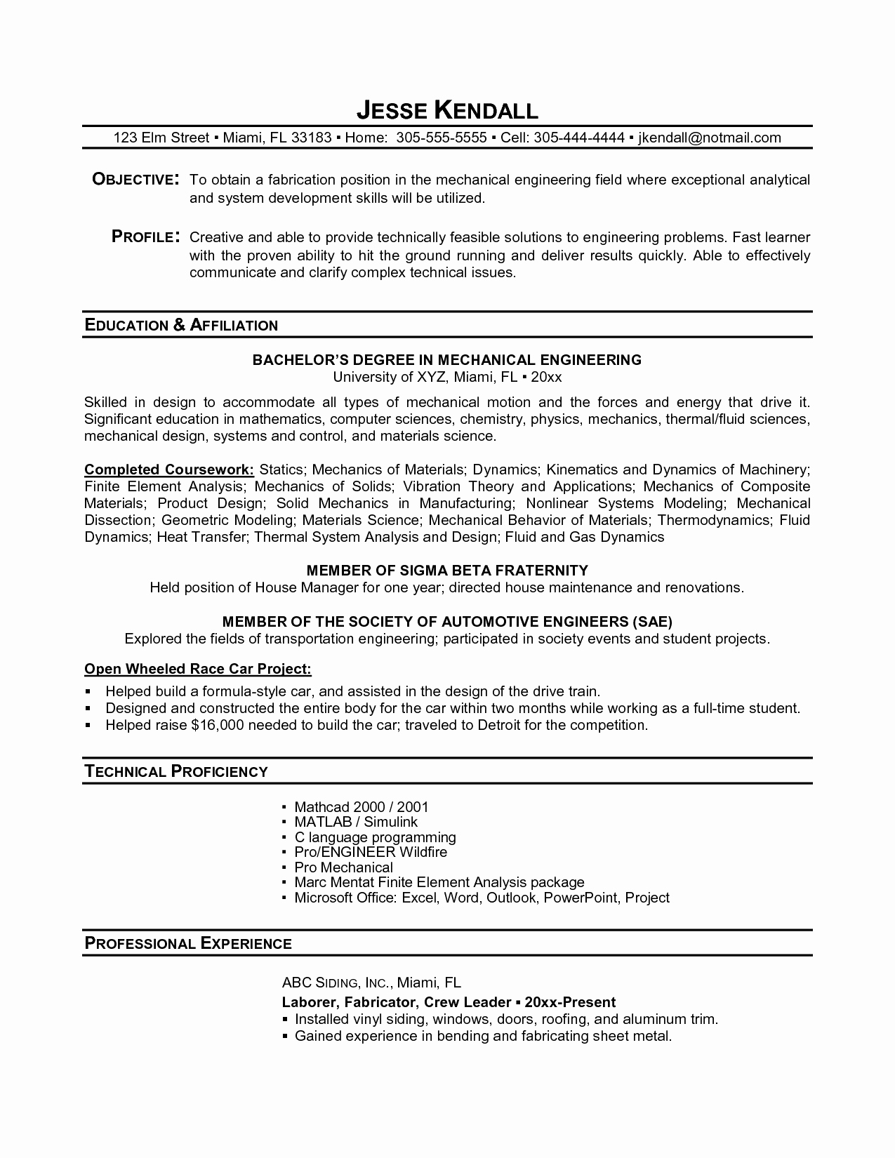 Racing Resume Template - 30 Sample Resume for College Graduate