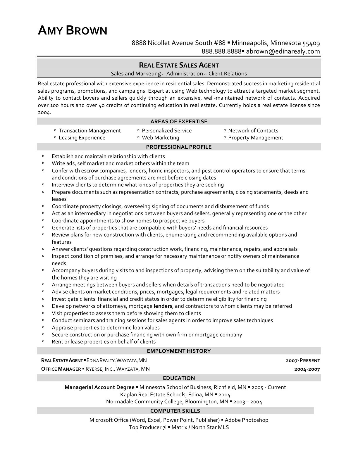 Real Estate Broker Resume - Real Estate Resume Best What is A Resume New Lovely Skills for A