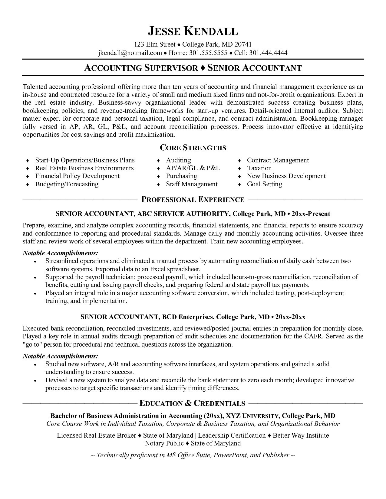 Real Estate Resumes - Pursuing Cpa Resume Luxury Senior Accountant Resume Awesome Empty