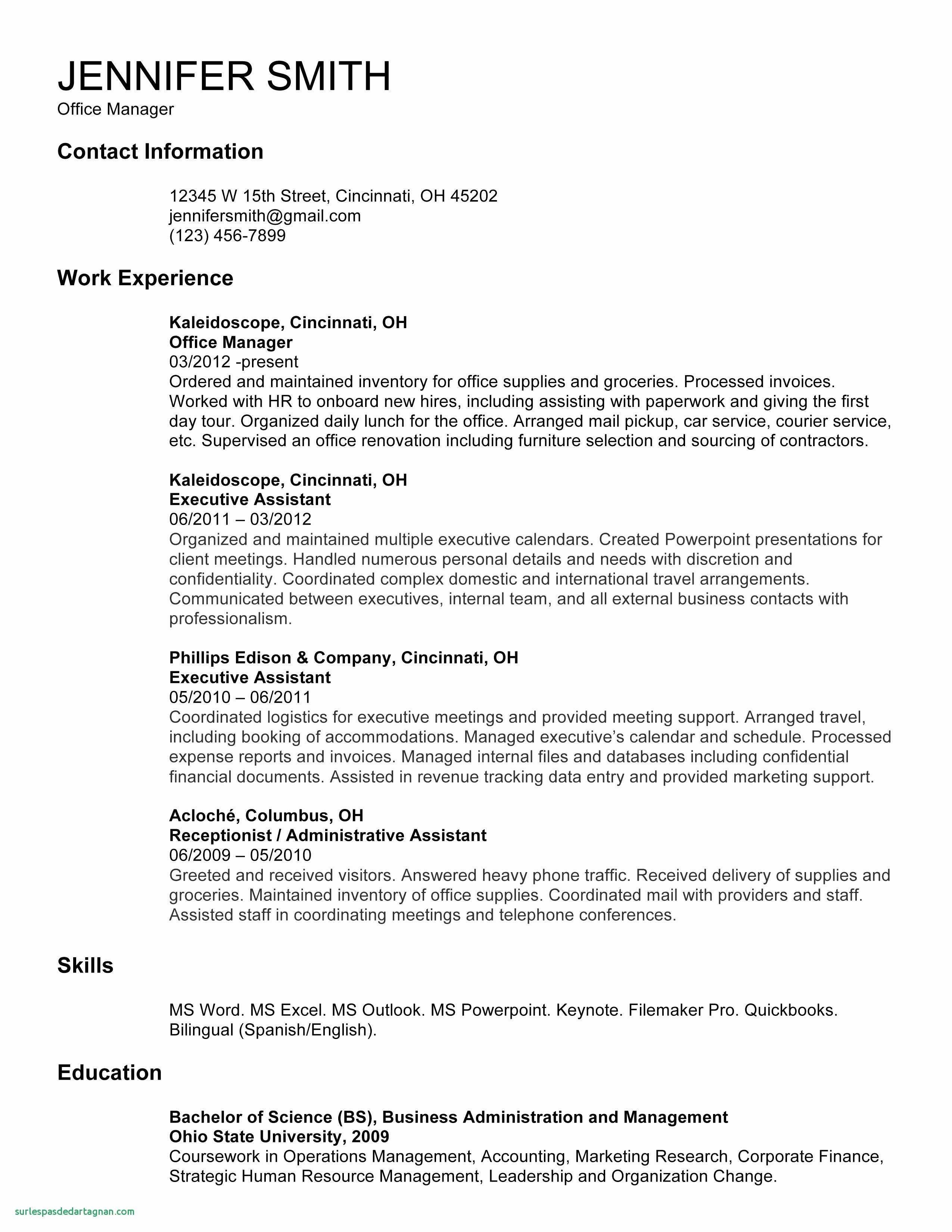 Receptionist Resume Template Free - Resume Template Download Free Unique ¢Ë†Å¡ Resume Template Download