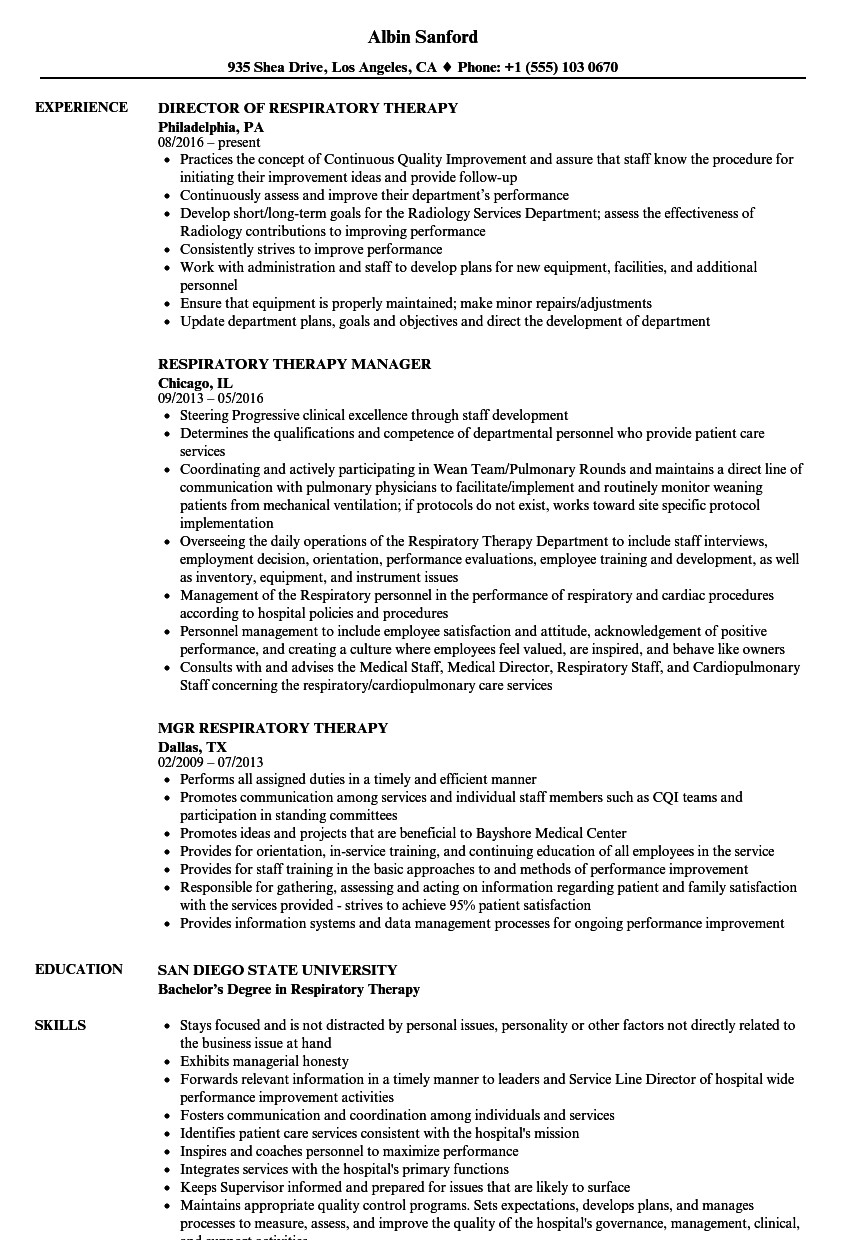 Respiratory therapist Resume Sample - 25 Lovely Respiratory therapist Resume Sample