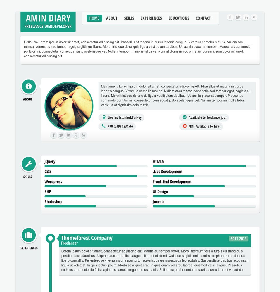 responsive resume template example-ment on this theme 5-r