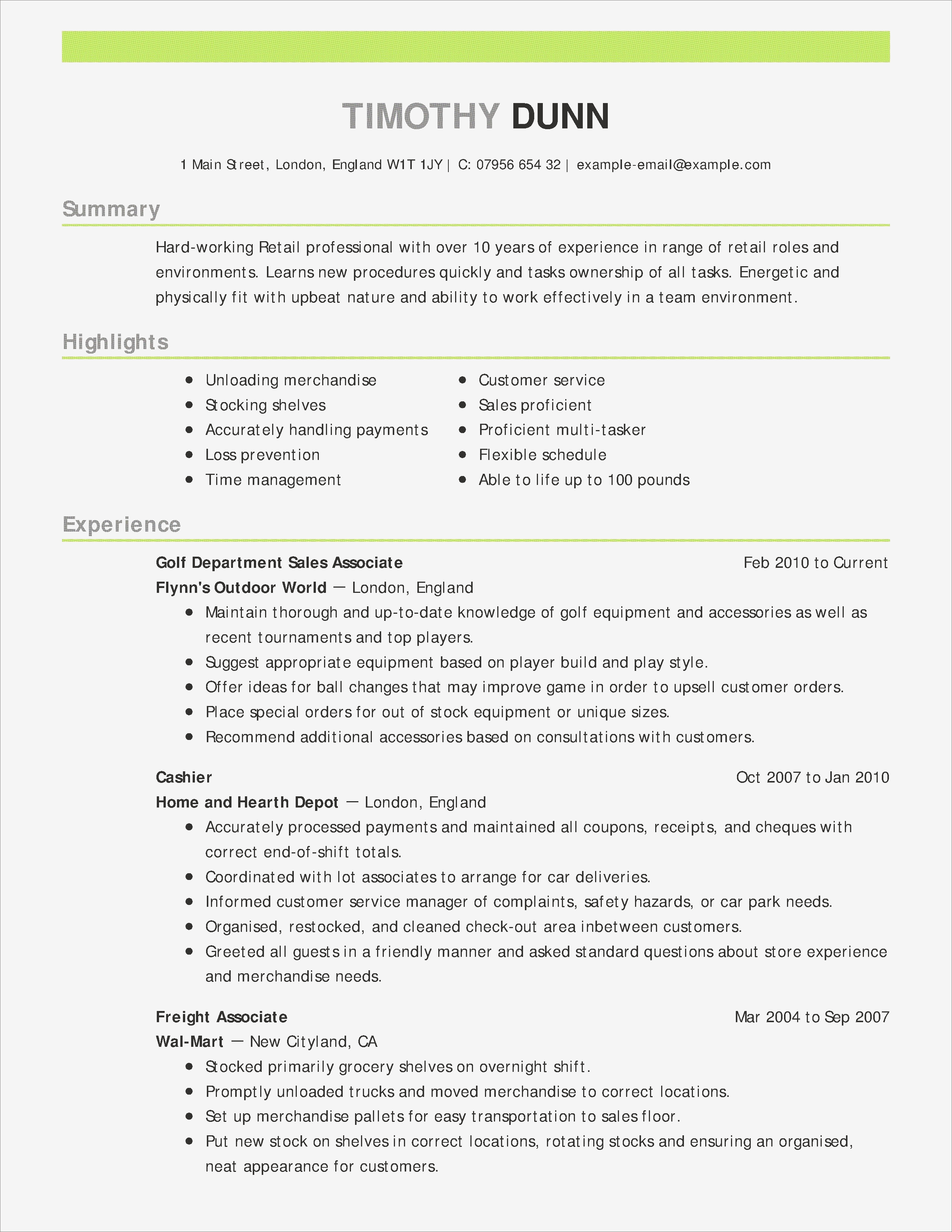 Restaurant Cashier Resume - Restaurant Cashier Resume Sample