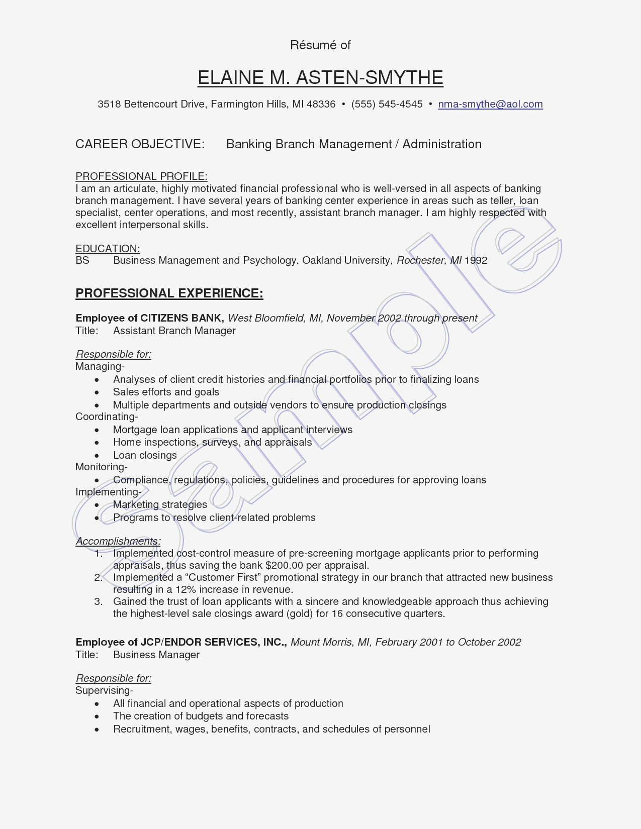 Restaurant Manager Resume Examples - Sample Restaurant Resume
