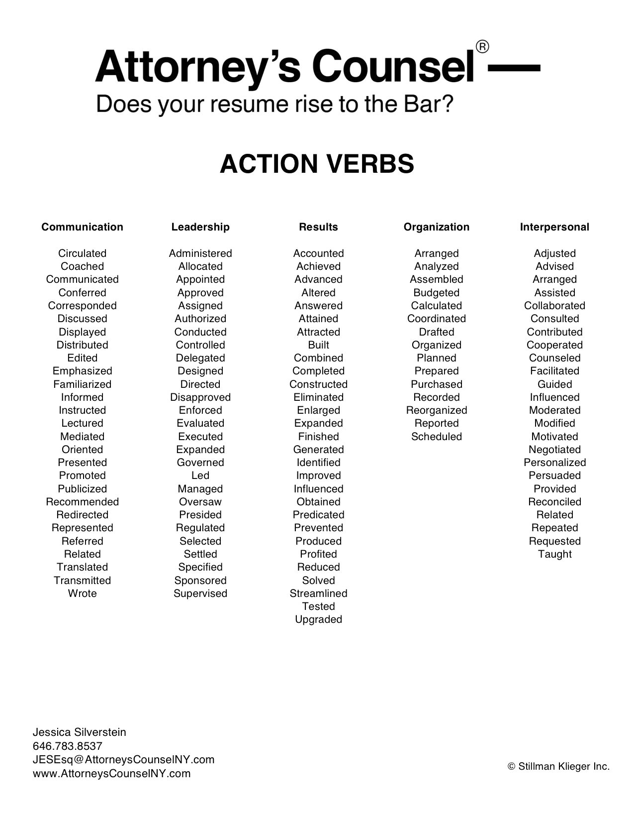 Resume Action Word List - 19 Resume Action Word List
