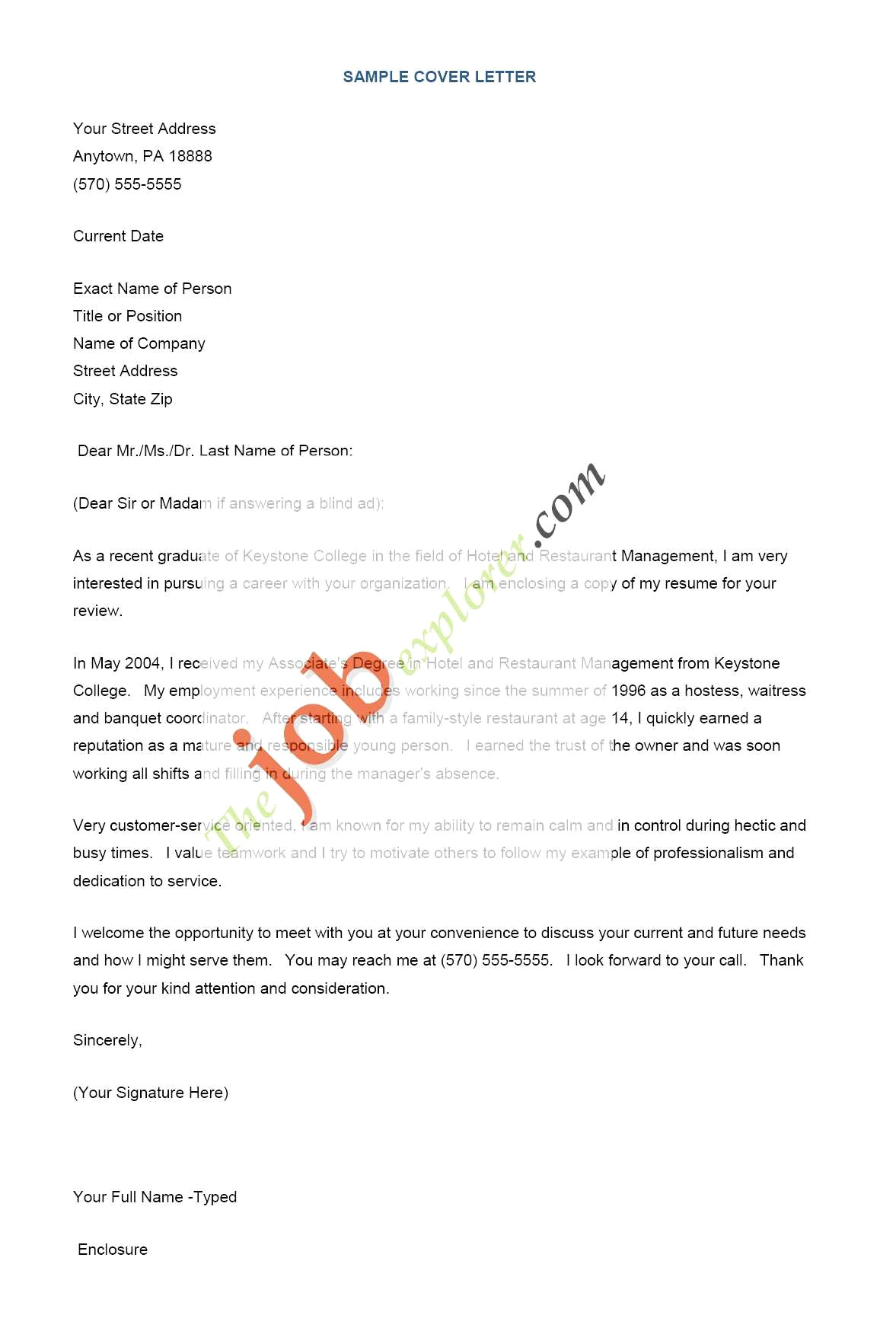 Resume and Cover Letter Review - 50 Awesome Sample Cover Letters for Resume