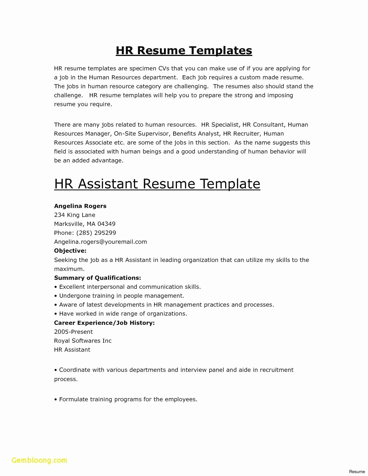 10 Resume Builder Templates Samples | Resume Database Template