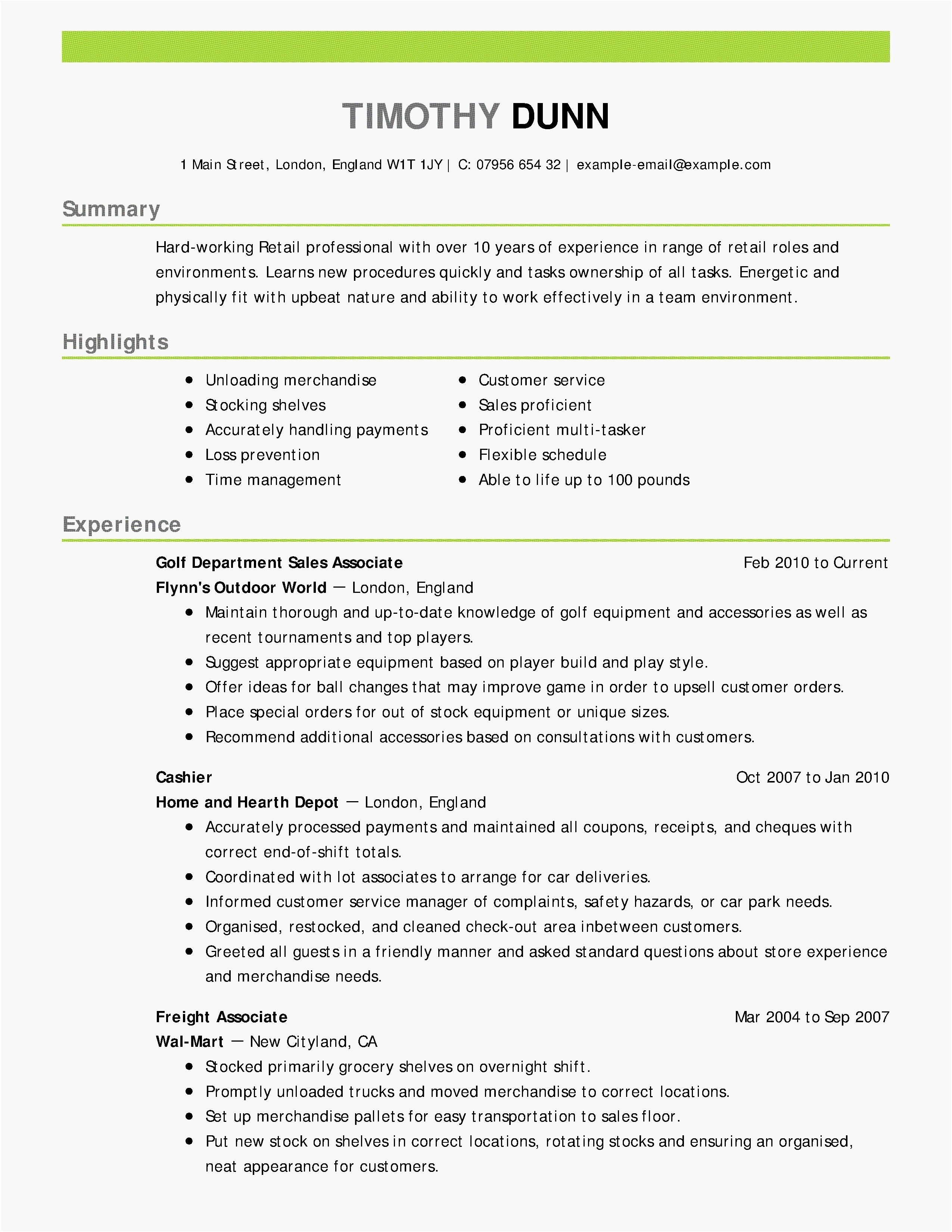 Resume Cover Letter Template Free - Entry Level Cover Letter Template Free Examples