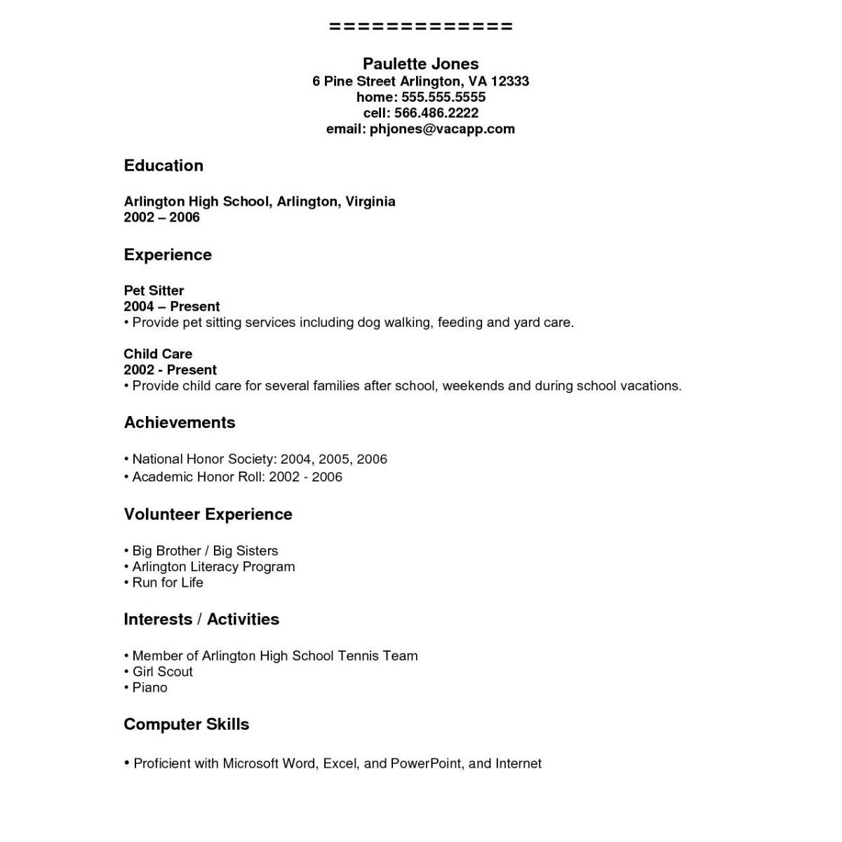 Resume Creator for Students - Create Resume for High School Student Pretty Resume Builder for