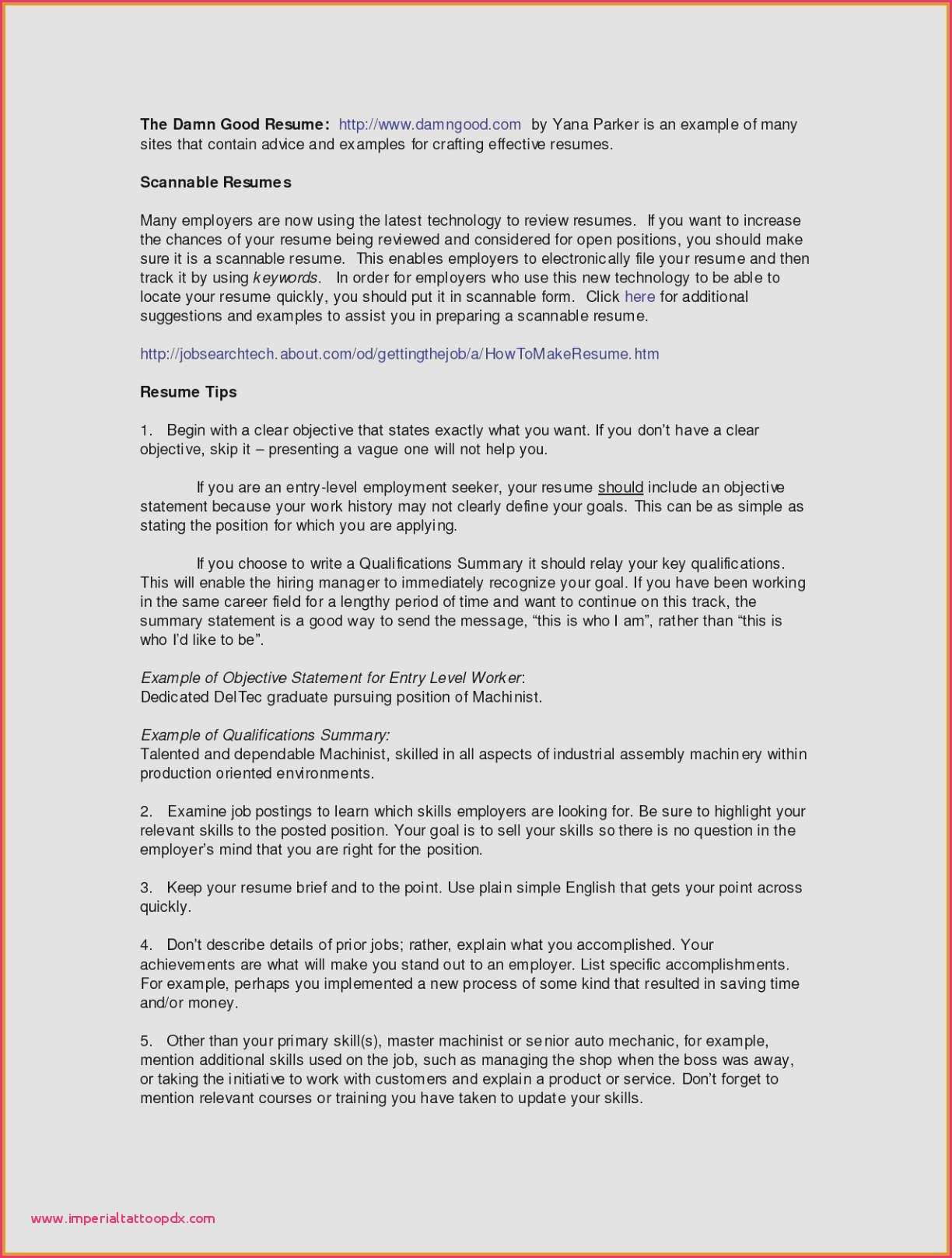 Resume Don Ts - Resume Qualifications Summary Customer Service Fresh Examples