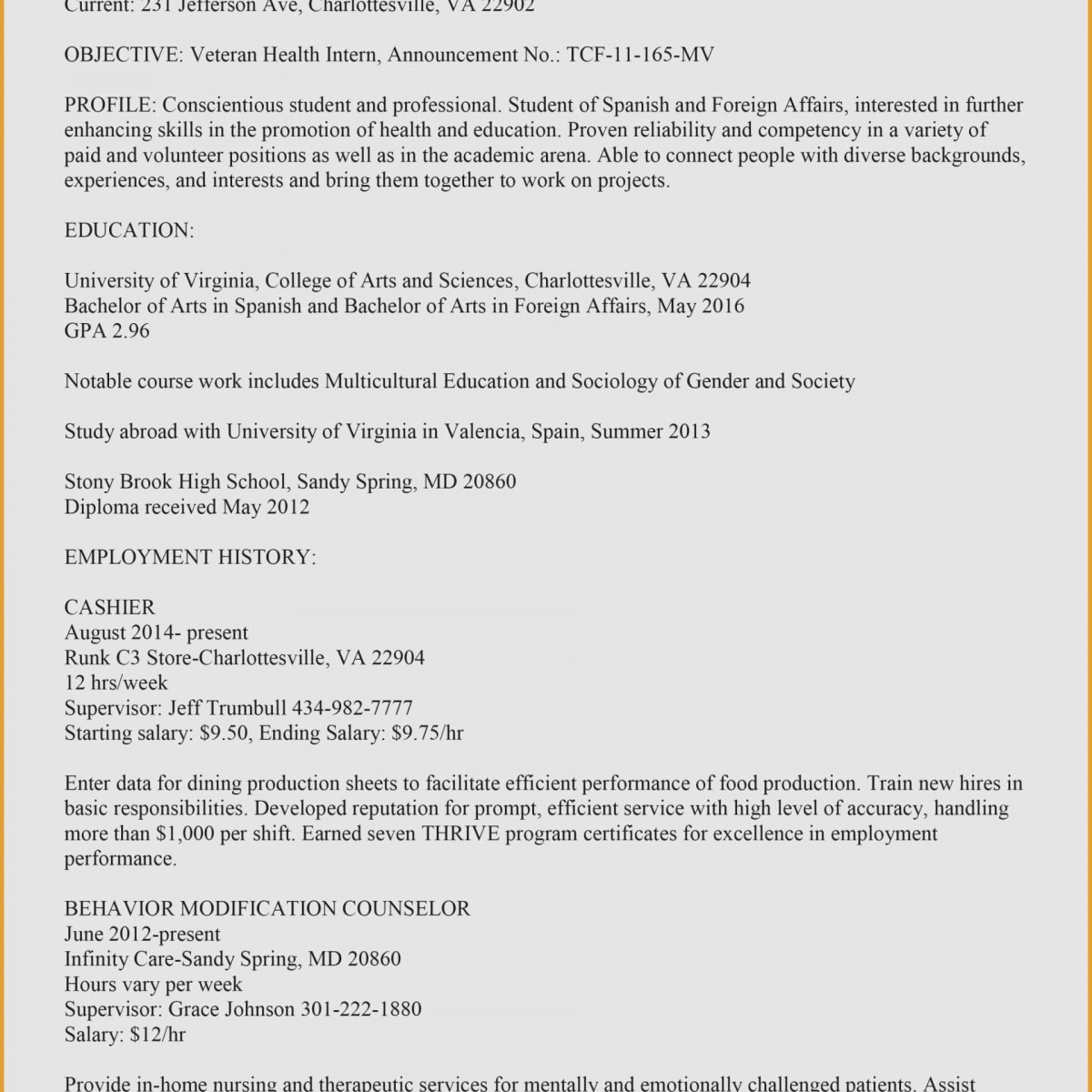 Resume Employment History - What Should Be Included In A Resume Fresh Beautiful My Resume Work