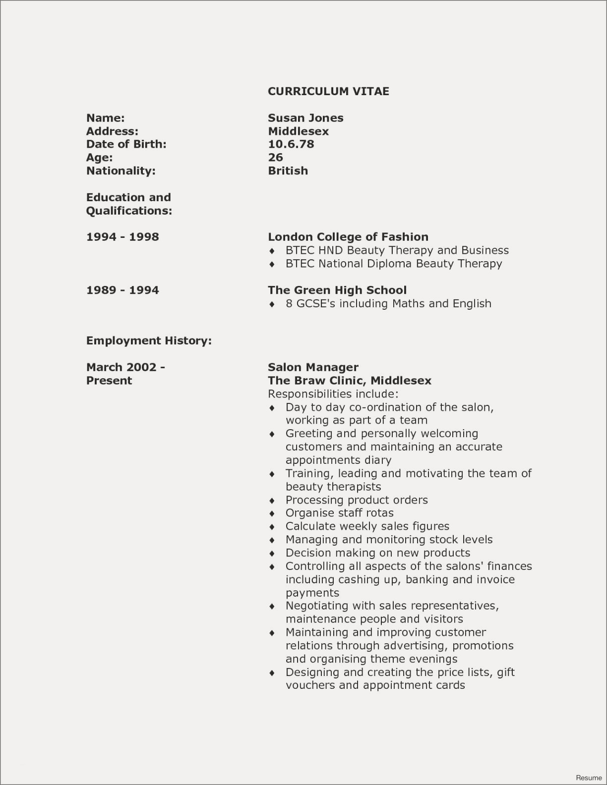Resume Employment History - Standard Resume Objective New Teacher Resume Example Awesome Resume