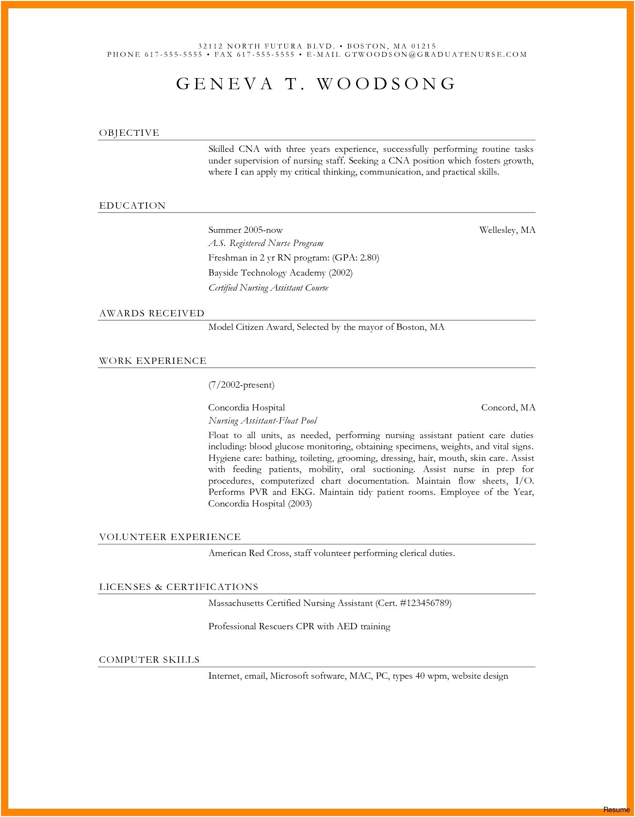 Resume Empty format - 35 Inspirational Blank Resume form