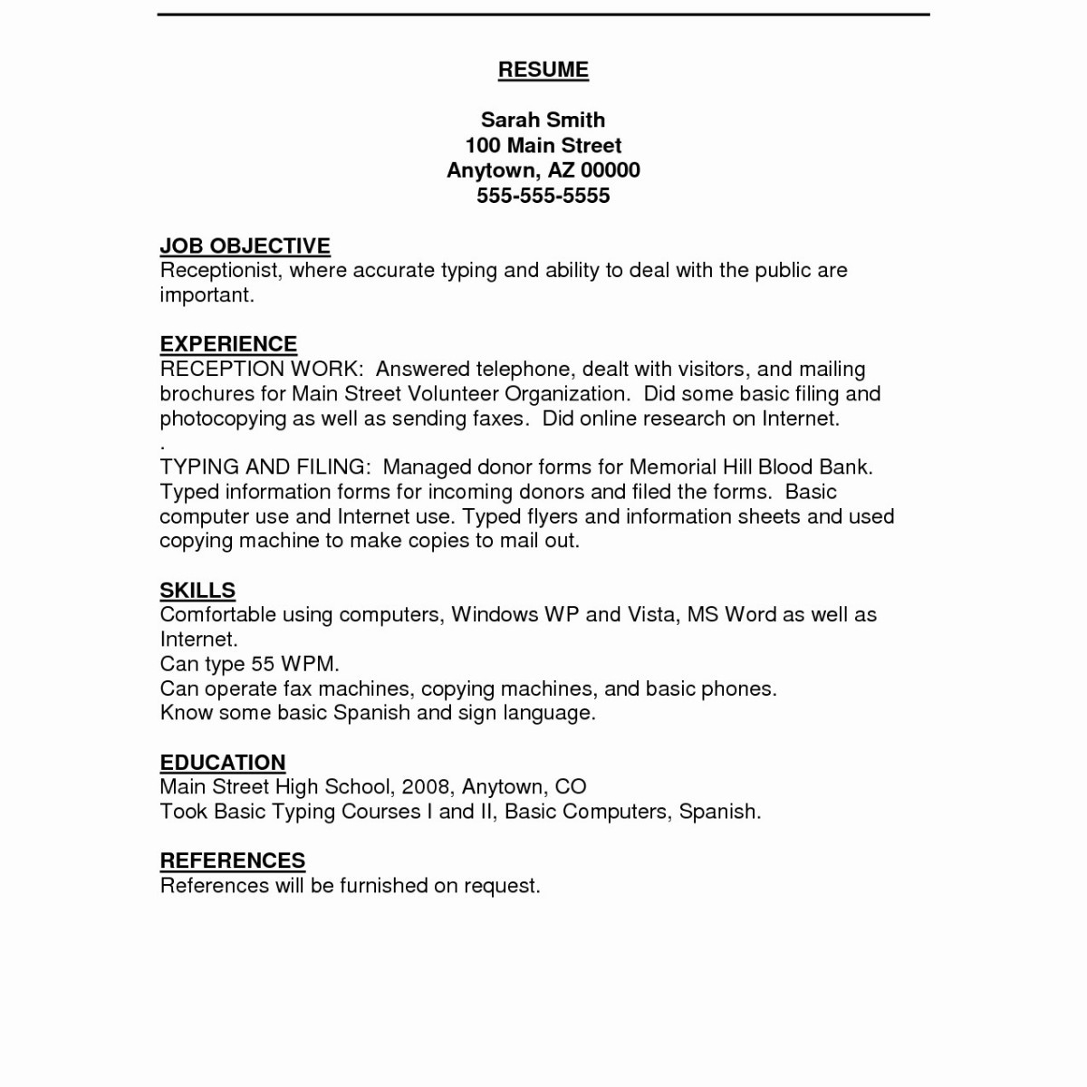 Resume Examples for Receptionist Job - Information Technology Resume Examples Cute Technical Resume