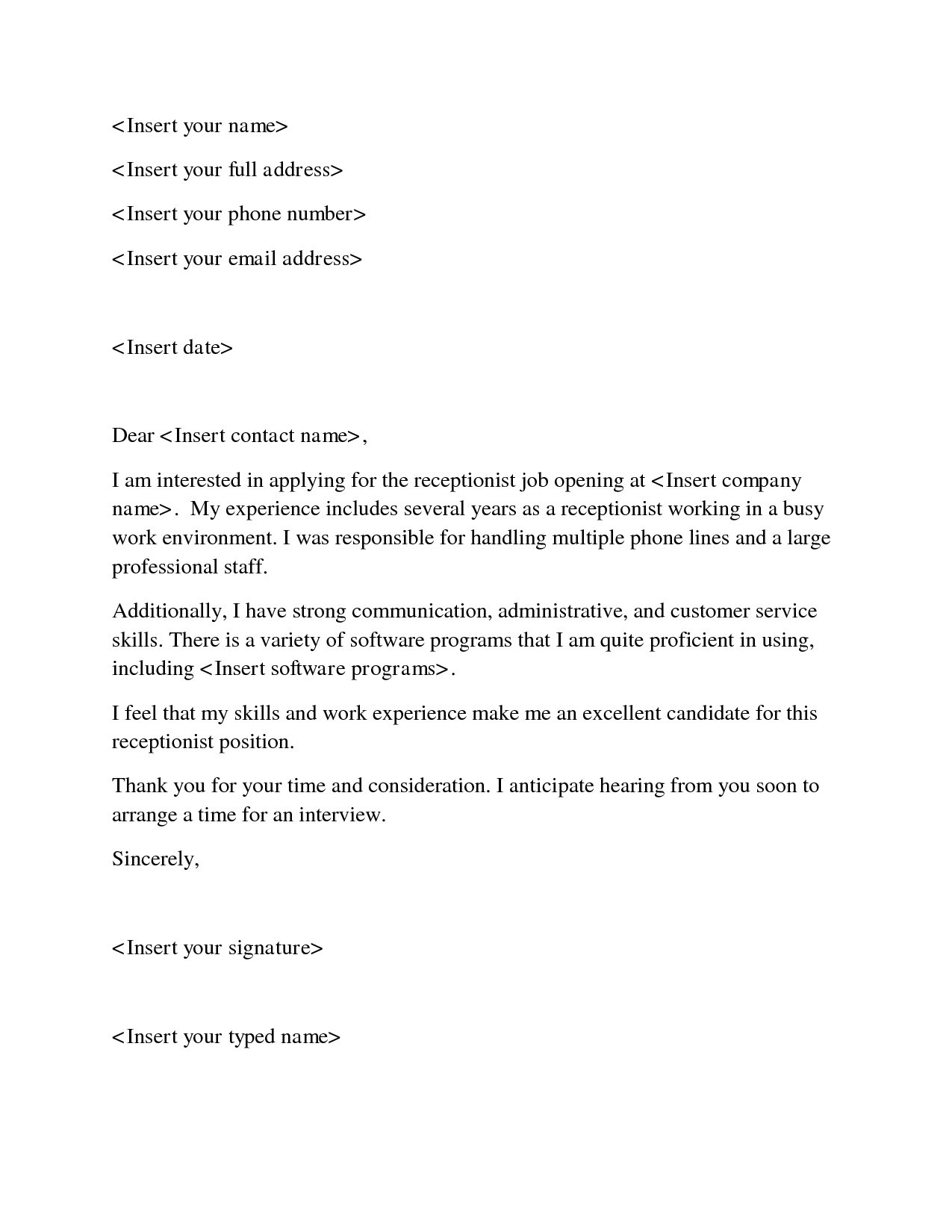 Resume Examples for Receptionist Job - Receptionist Resume Skills Resume Sample for Job All Resume