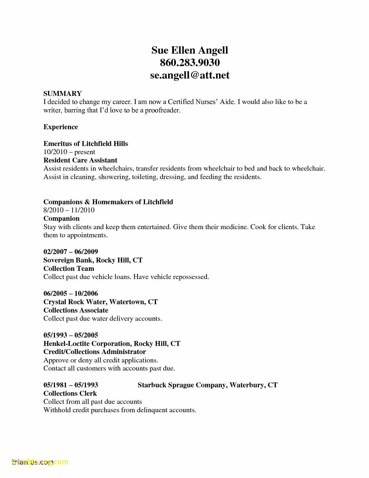 Resume Examples Online - Download Lovely Resume Examples Cna