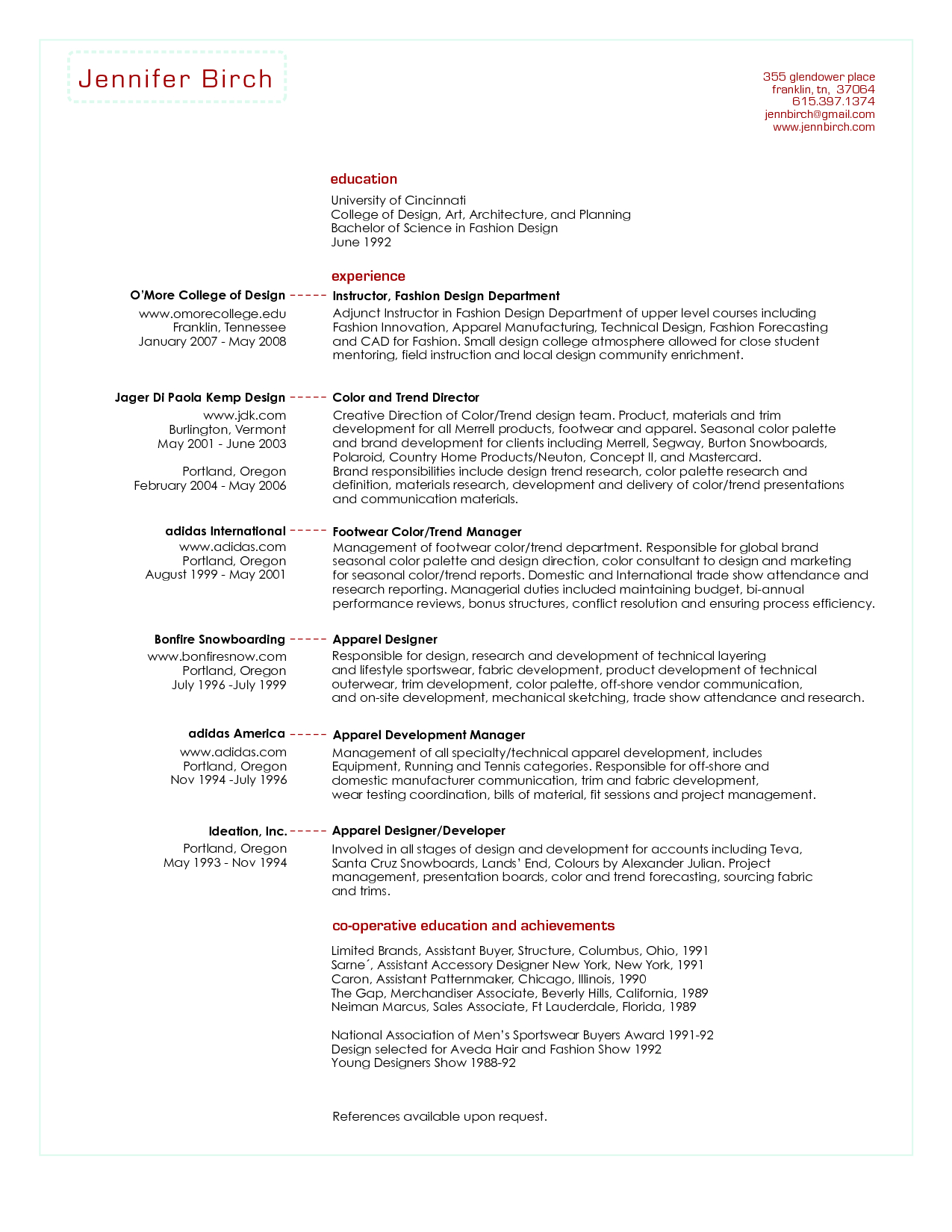 resume for buyer Collection-junior fashion er resume skills Google Search 11-d