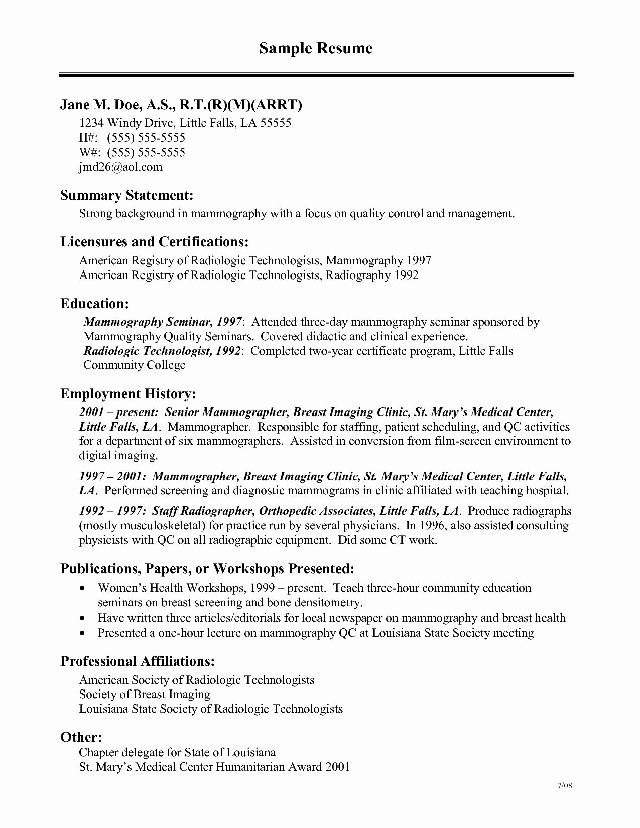 Resume for Dialysis Technician - Valid Resume Samples Veterinary Technician