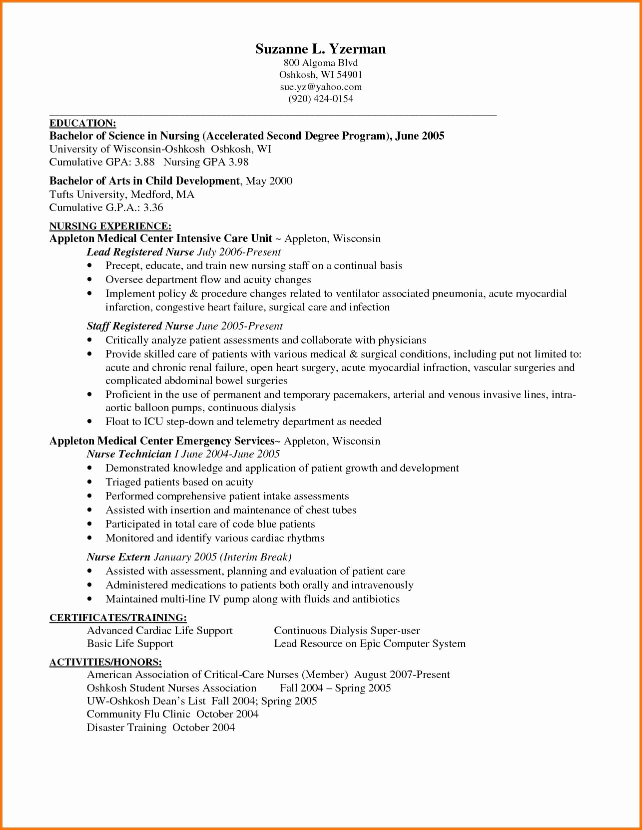 Resume for Dialysis Technician - Patient Care Technician Resume Patient Care Technician Resume New 53