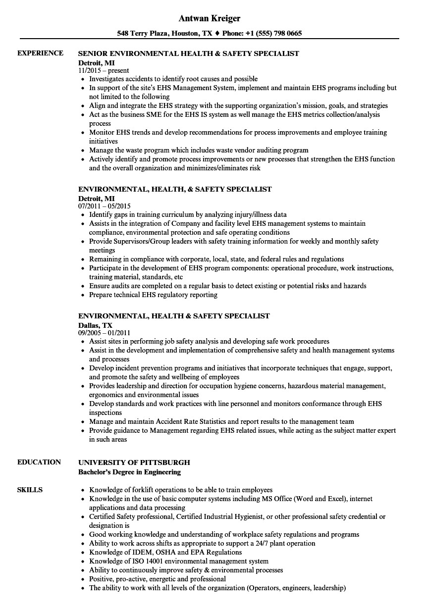 Resume for Environmental Services - Part 2 Ekizz – Resume