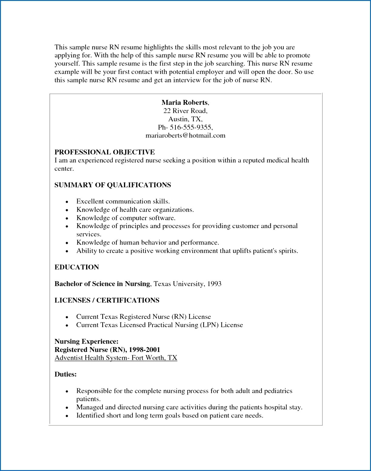 Resume for Environmental Services - 41 Concepts Example Nursing Resume