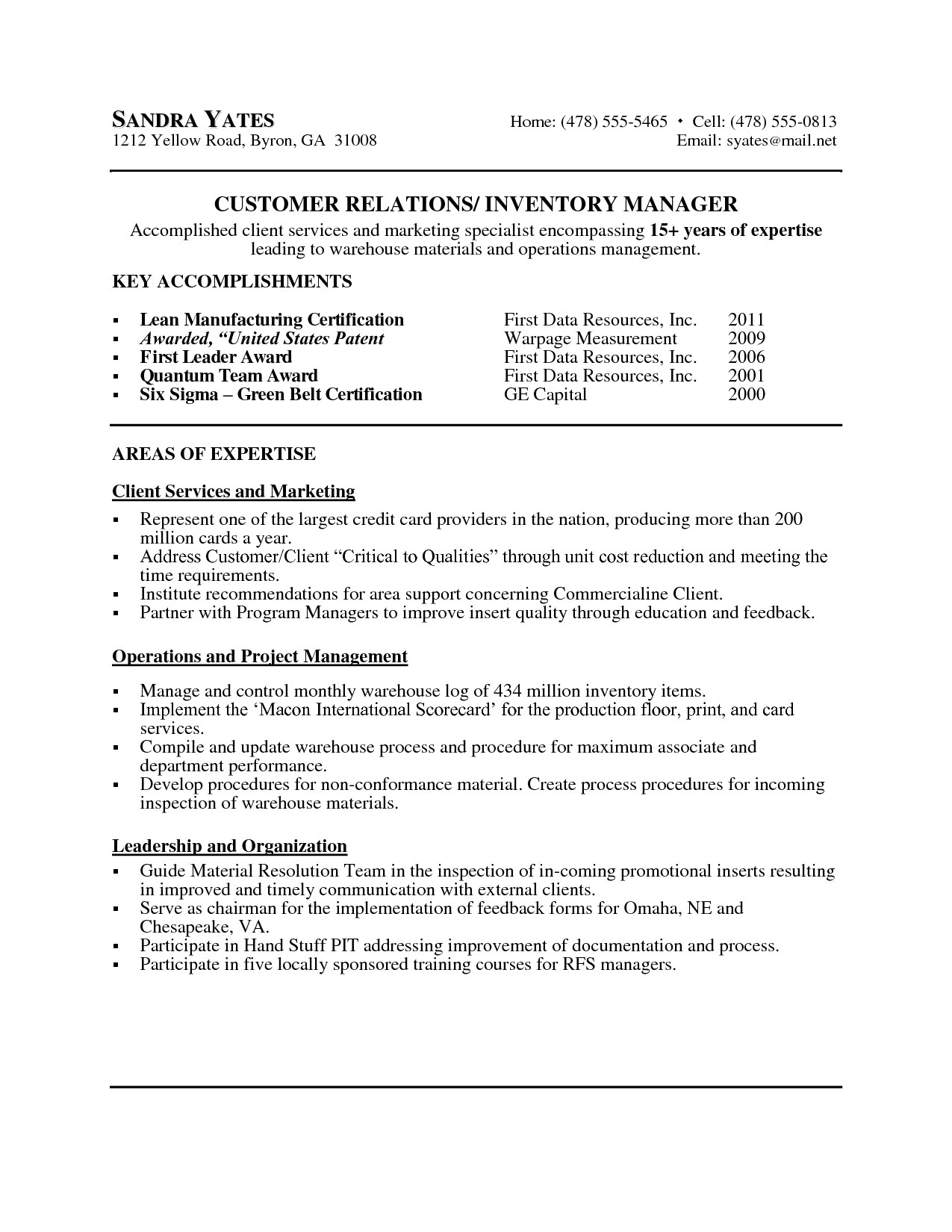 Resume for Internal Position - 44 New Resume for First Job