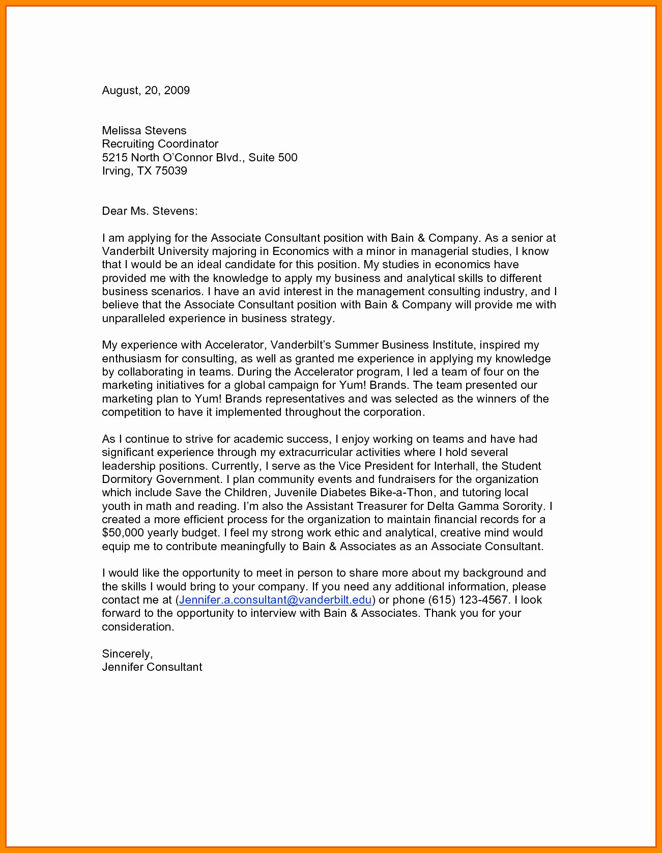 Resume for Interview - Great Cover Letter Exampl Valid Resume and Cover Letter Examples