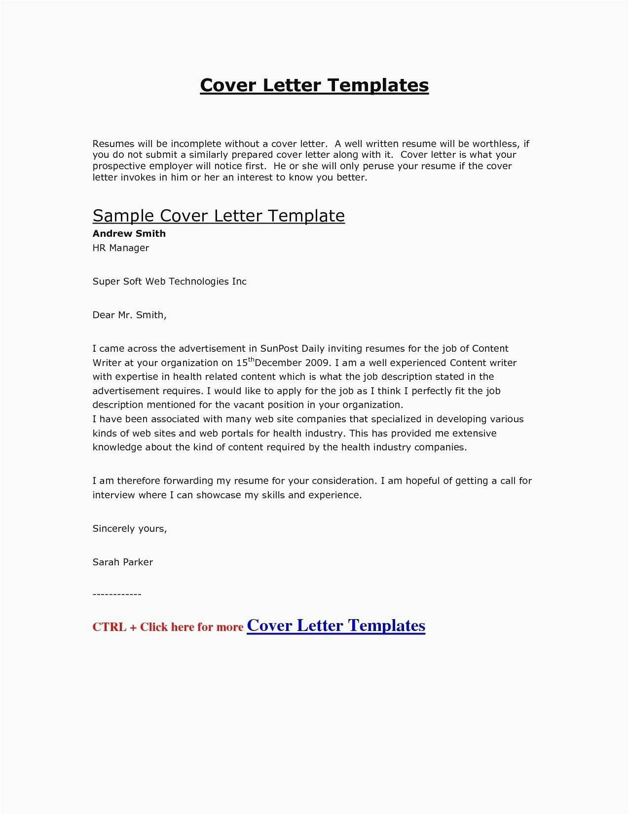Resume for Interview - 29 Free Resume Letters format