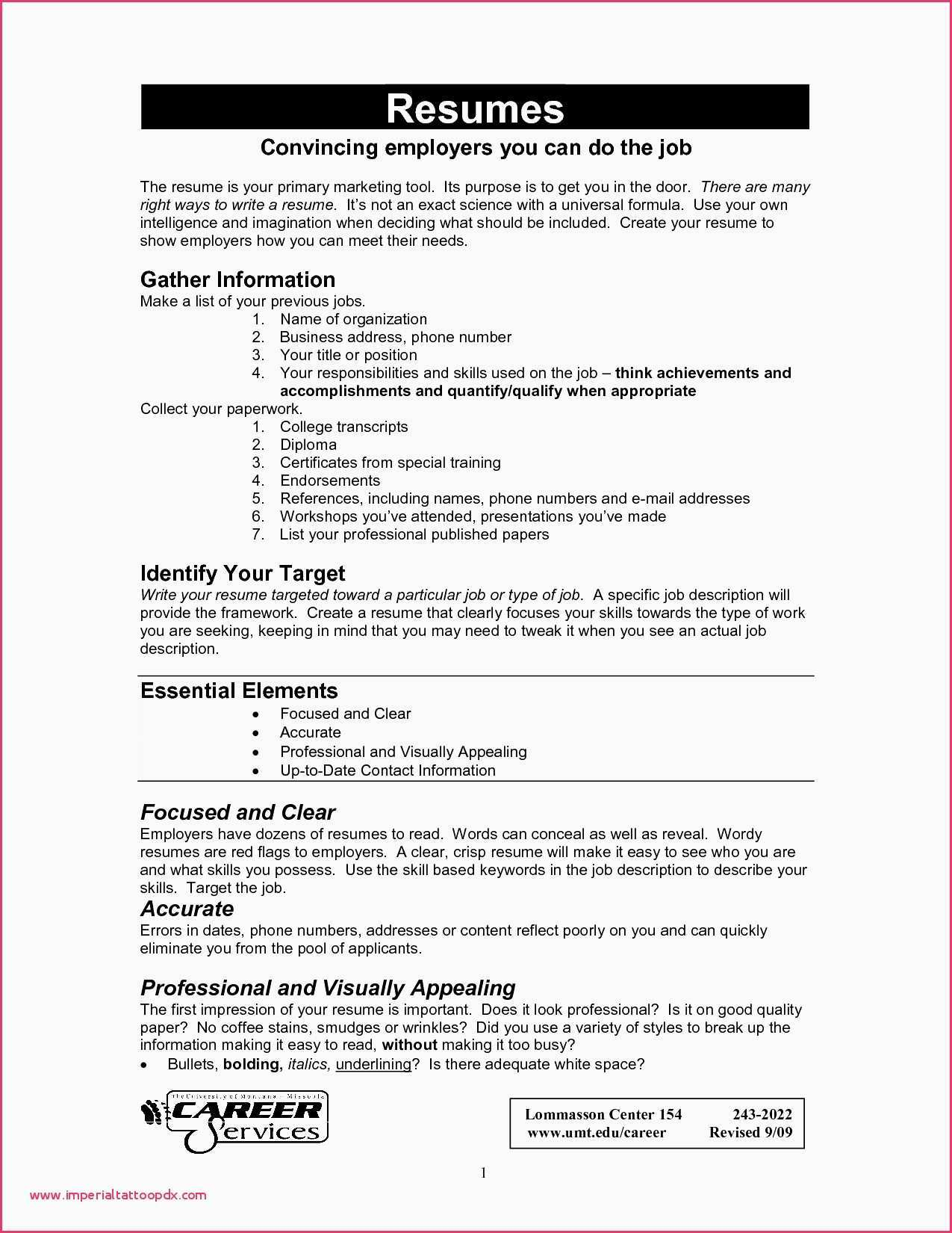 Resume for It Job - Words that Employers Look for In Resumes How to Update A Resume New