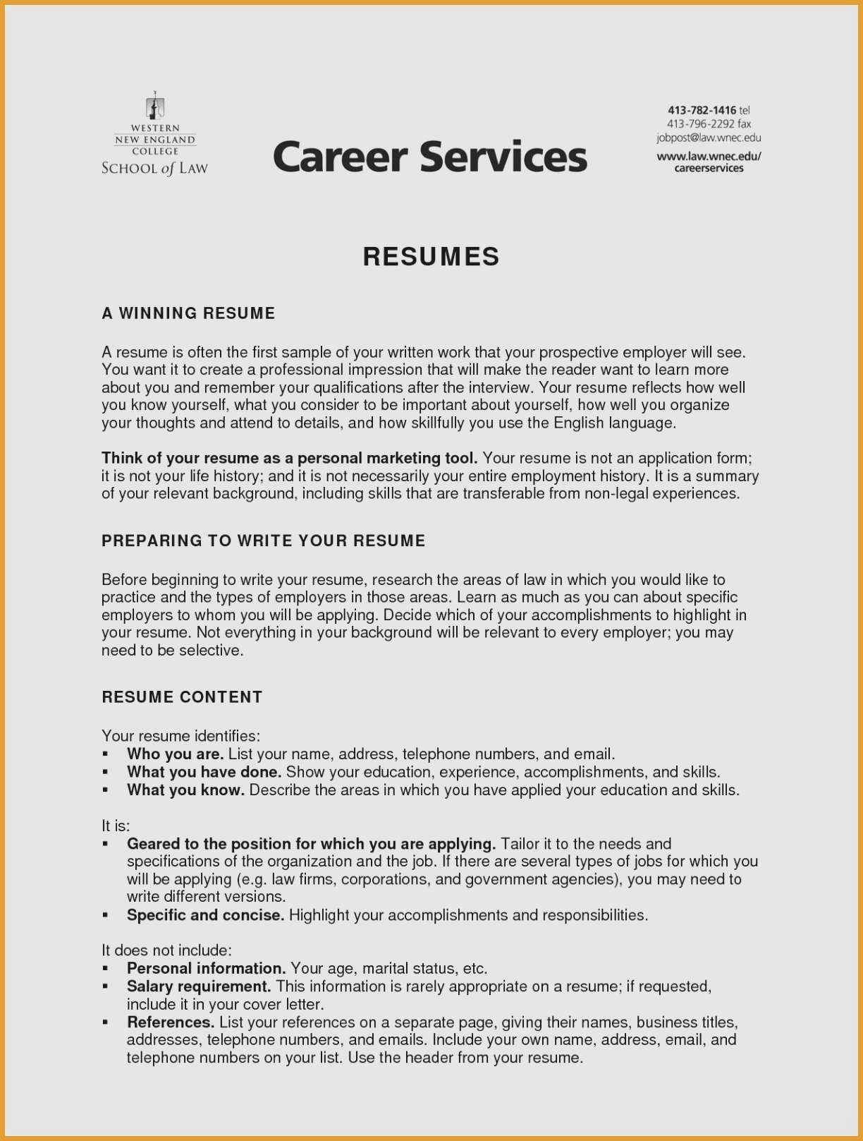 Resume for Marketing Job - Entry Level Marketing Resume Type A Resume Beautiful New Entry Level
