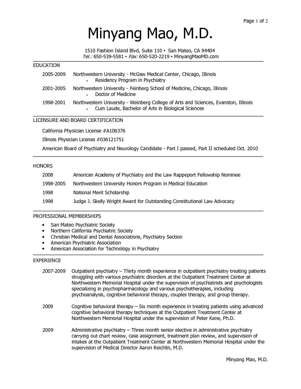 Resume for Med School - Cv Template Medical School Cv Template Pinterest