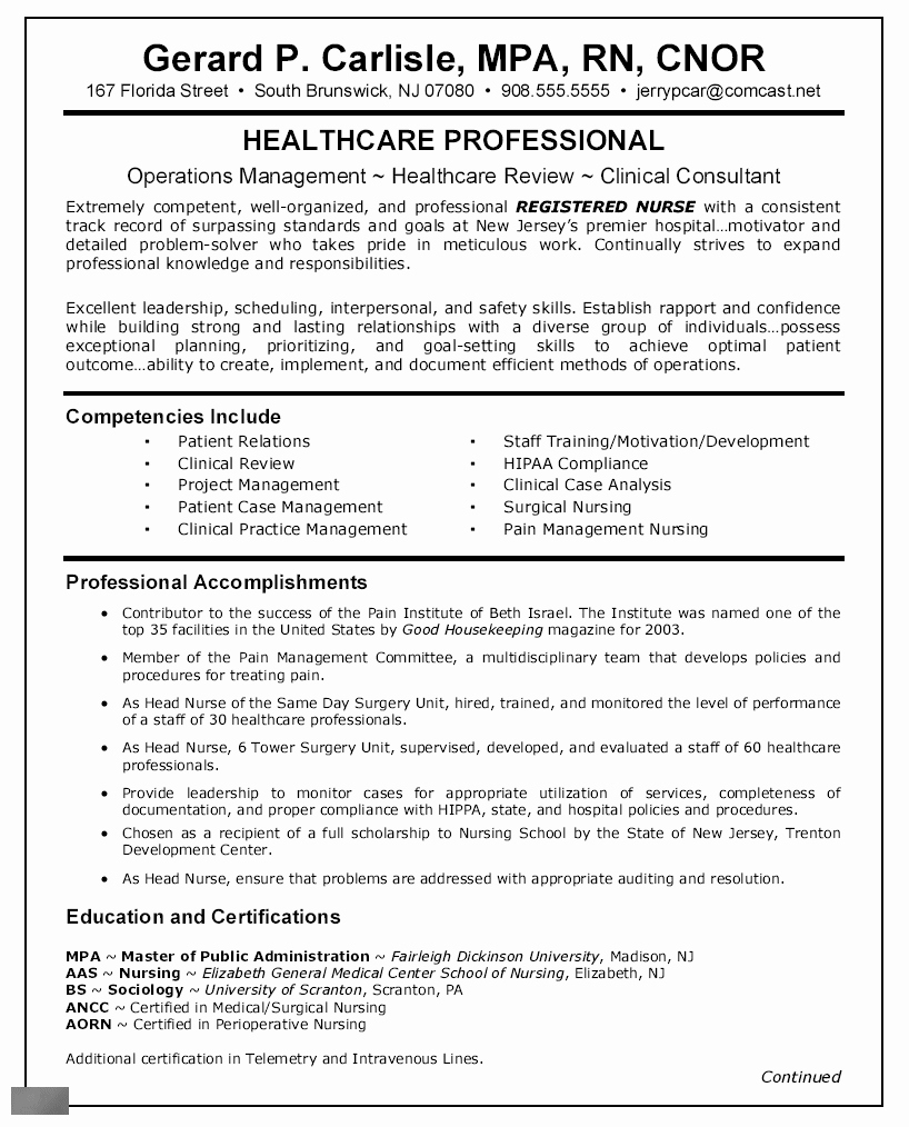 Resume for Med Surg Nurse - Med Surg Nurse Resume