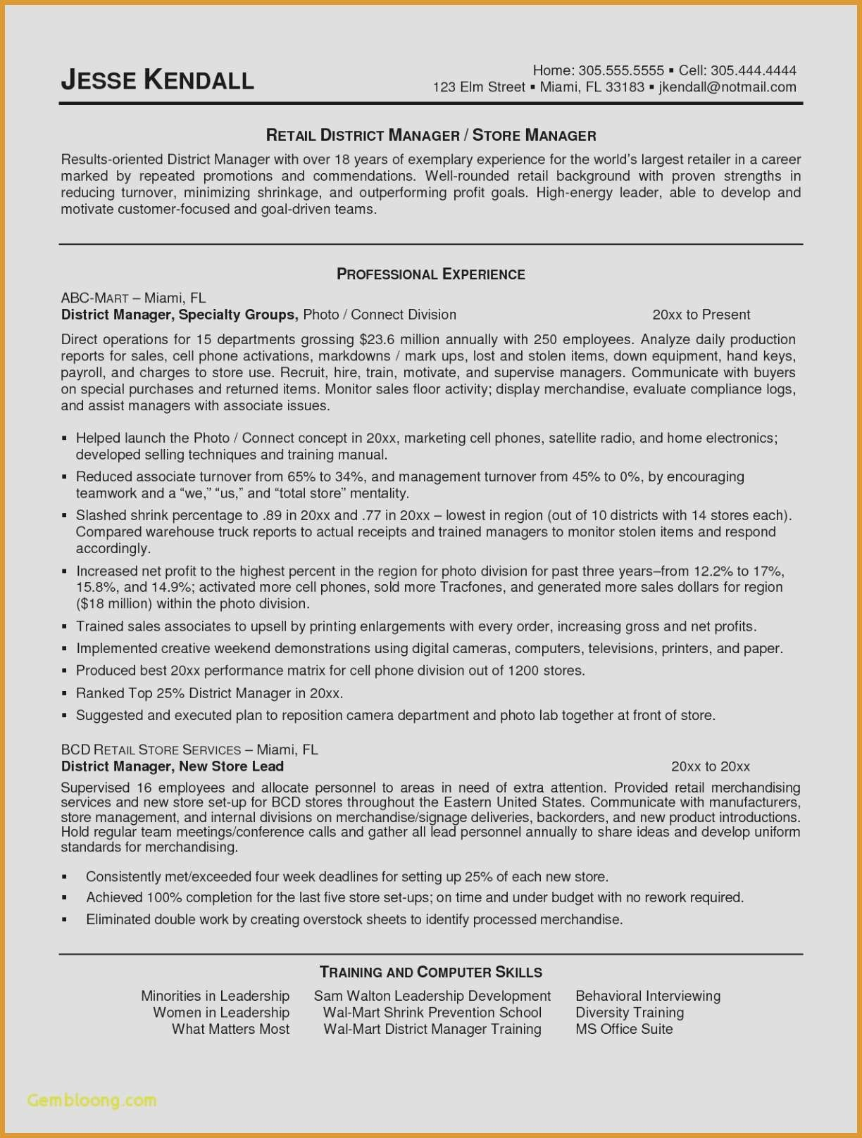 Resume for Retail Store - 16 Retail Store Resume