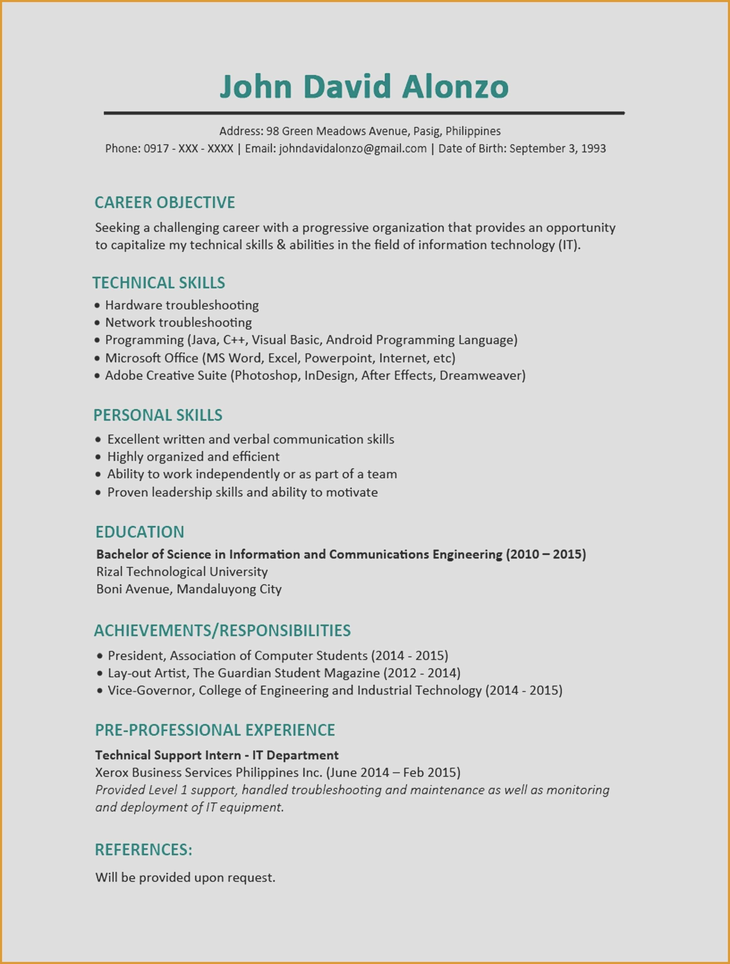 10 resume for second job collection