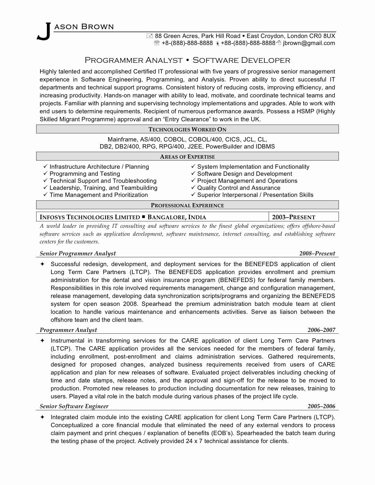 Resume for software Developer Experienced - 20 Resume for software Developer Experienced