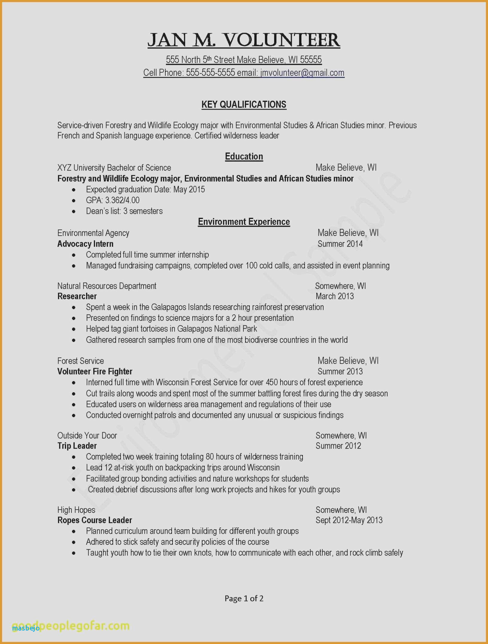 Resume for Summer Internship - Example Resume Example Resume Skills Awesome Examples Resumes