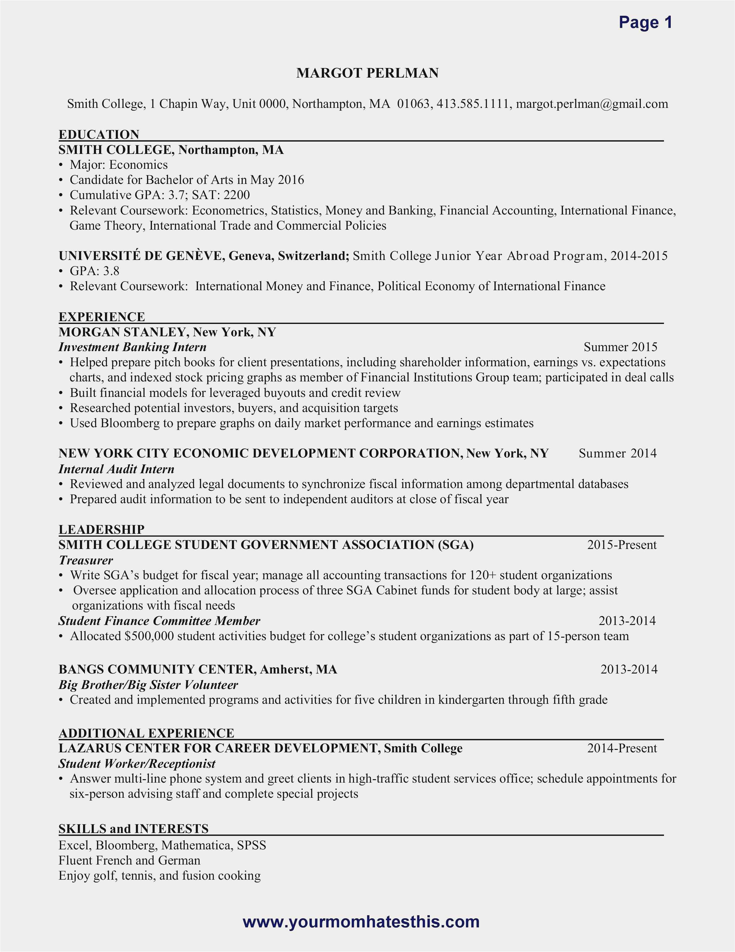 Resume How Many Pages - How to Put to Her A Resume format Best Fresh Entry Level Resume