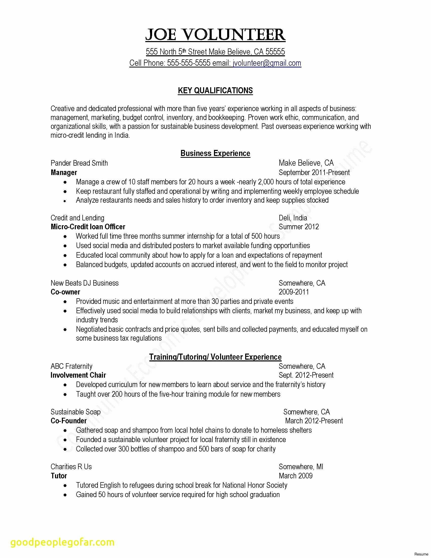 Resume Introduction Examples - Letter Introduction Template Collection